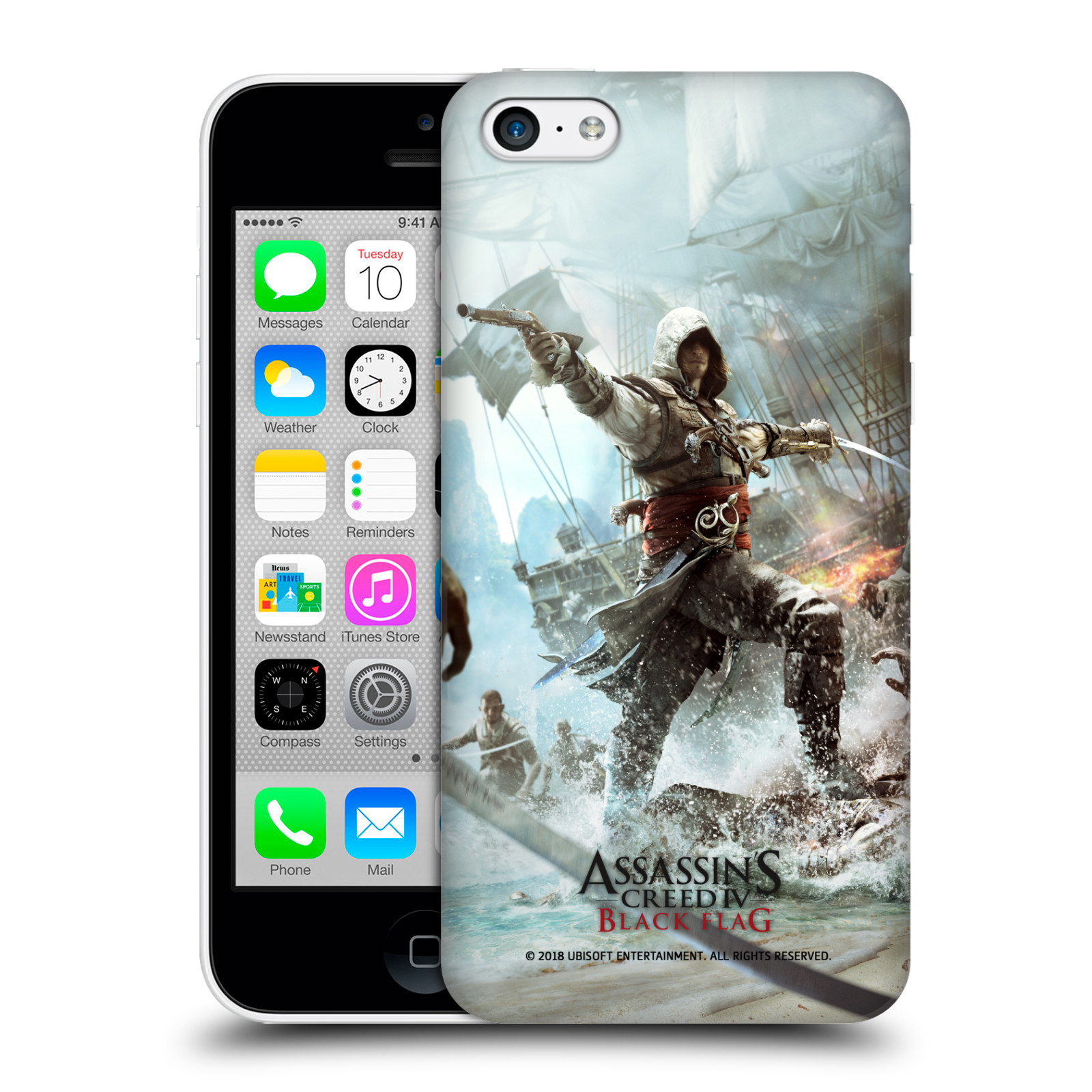 Pouzdro na mobil Apple Iphone 5C - HEAD CASE - Assasins Creed Black Flag - Edward v boji