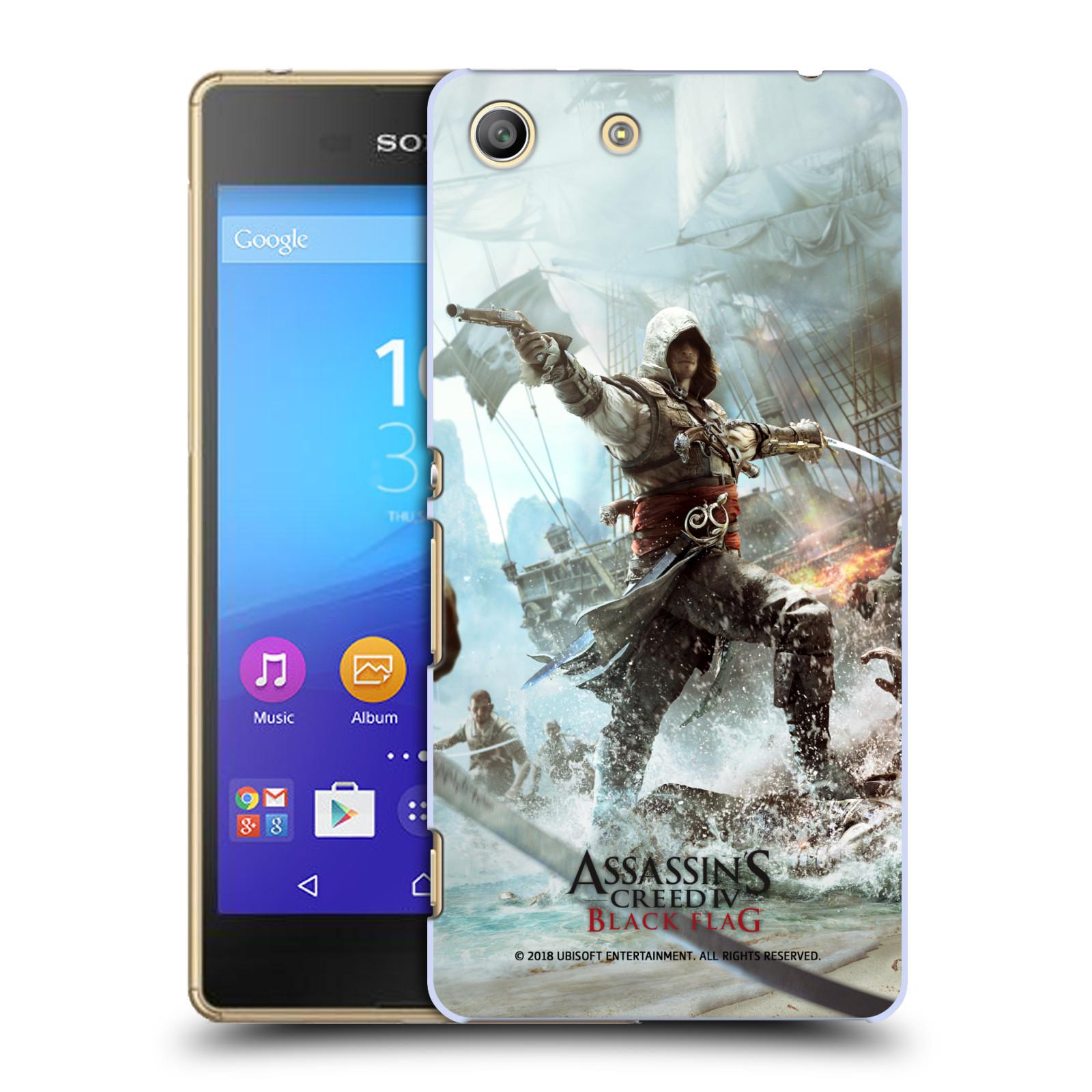 Pouzdro na mobil Sony Xperia M5 - HEAD CASE - Assasins Creed Black Flag - Edward v boji