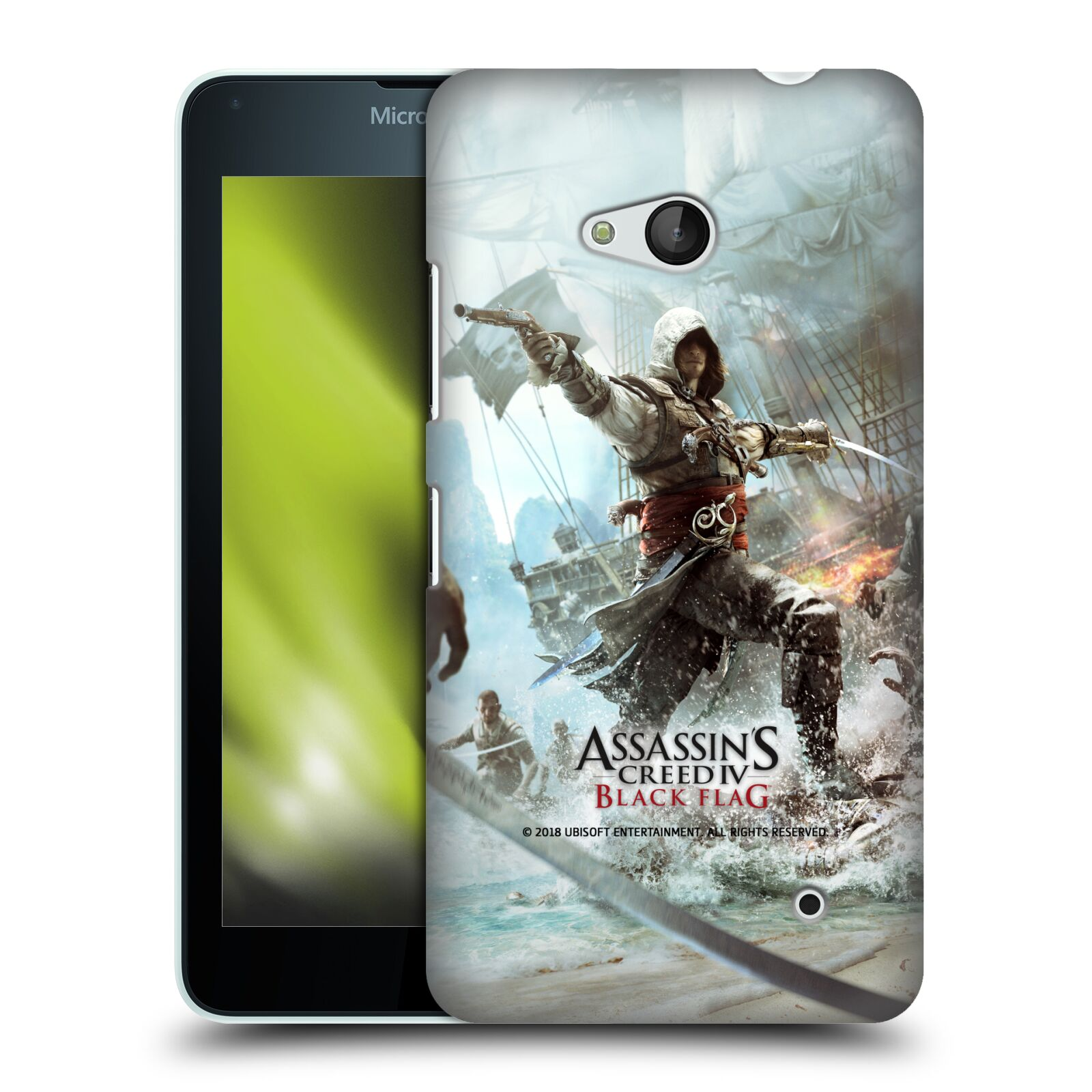 Pouzdro na mobil Microsoft Lumia 640 / 640 DUAL SIM - HEAD CASE - Assasins Creed Black Flag - Edward v boji