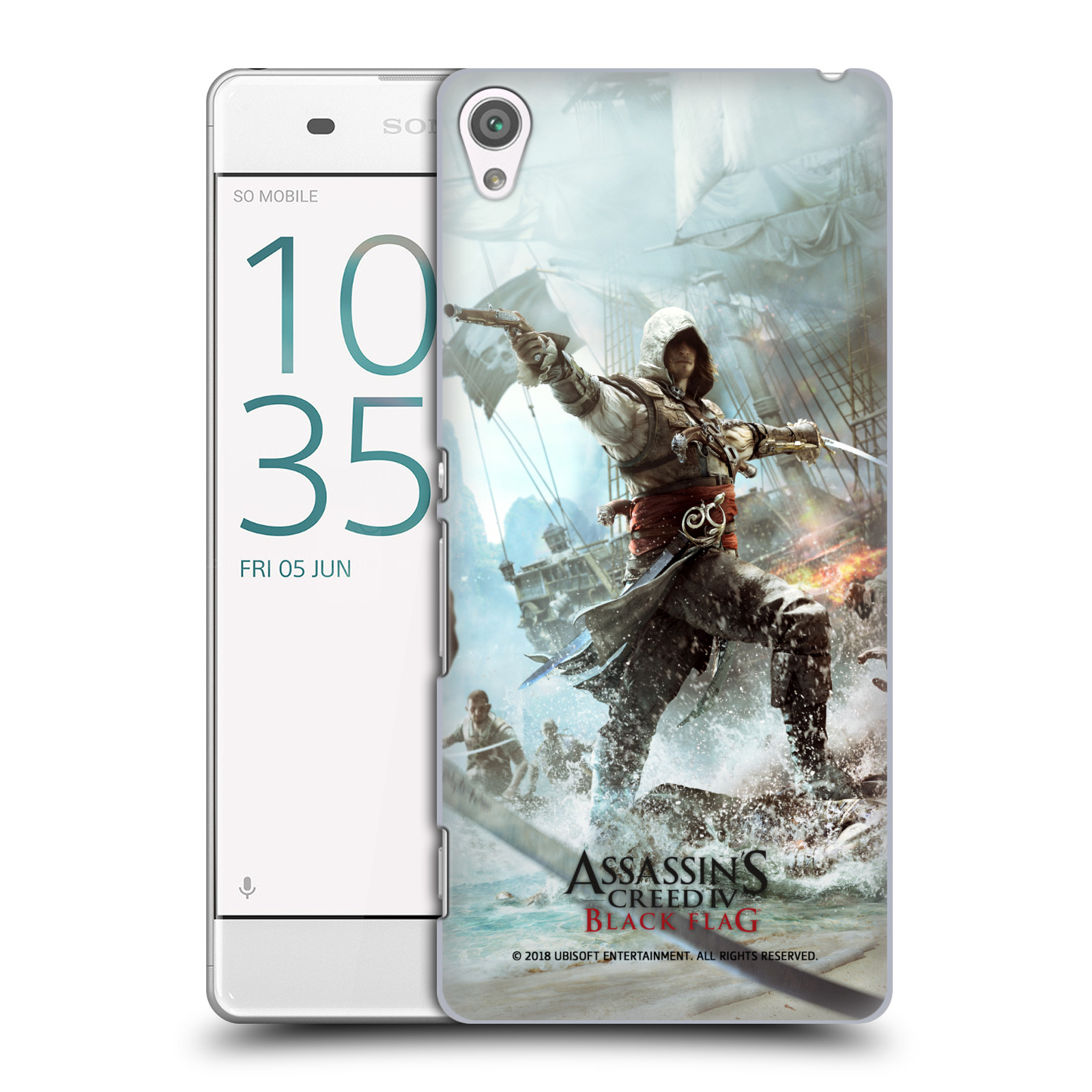 Pouzdro na mobil Sony Xperia XA - HEAD CASE - Assasins Creed Black Flag - Edward v boji