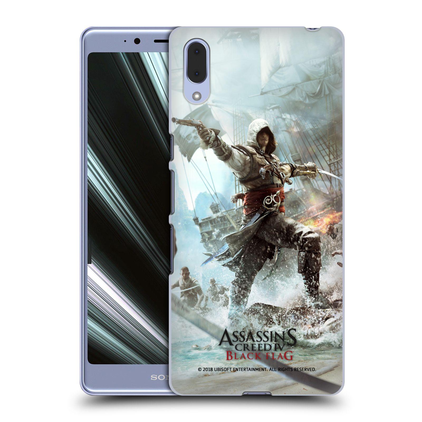 Pouzdro na mobil Sony Xperia L3 - HEAD CASE - Assasins Creed Black Flag - Edward v boji