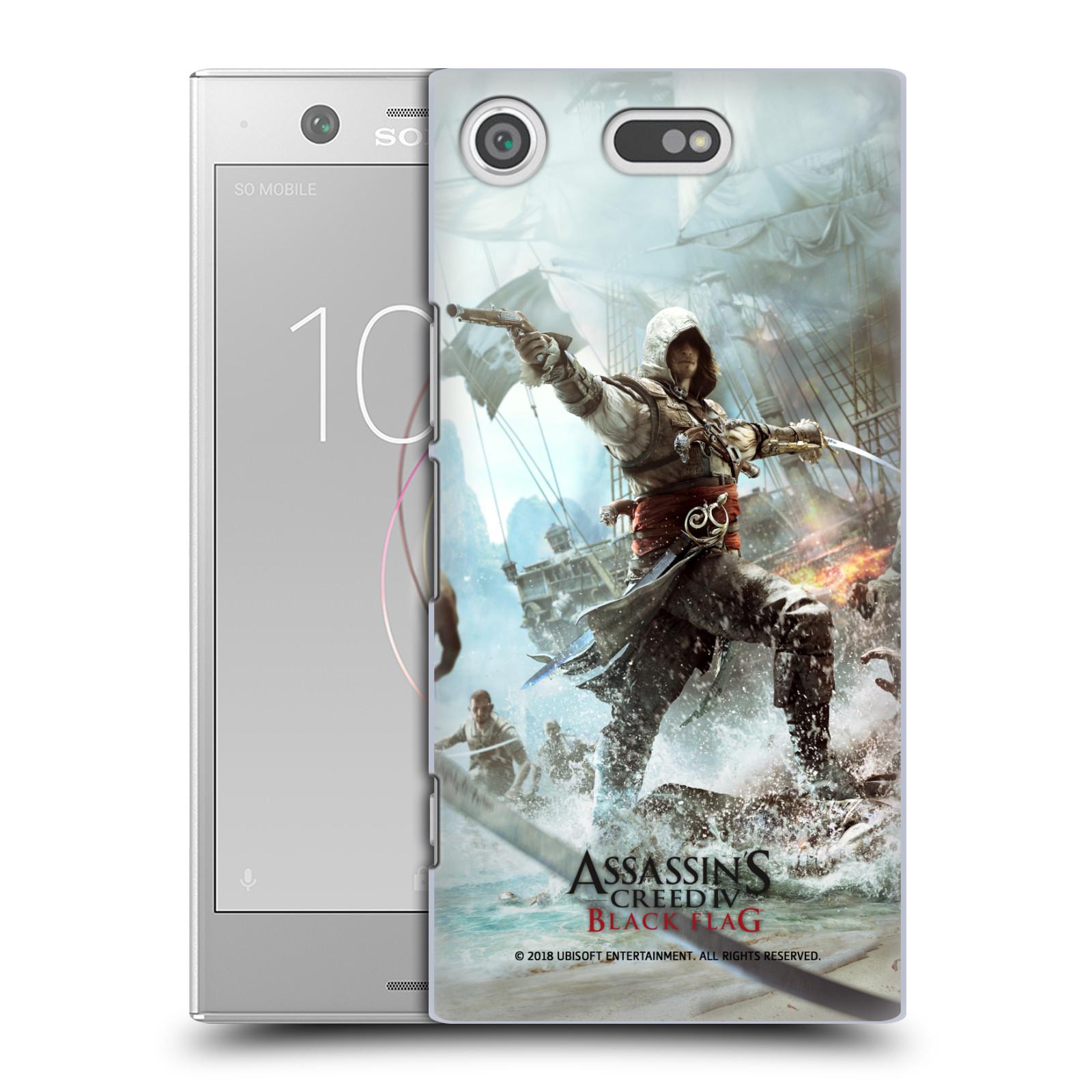Pouzdro na mobil Sony Xperia XZ1 COMPACT - HEAD CASE - Assasins Creed Black Flag - Edward v boji