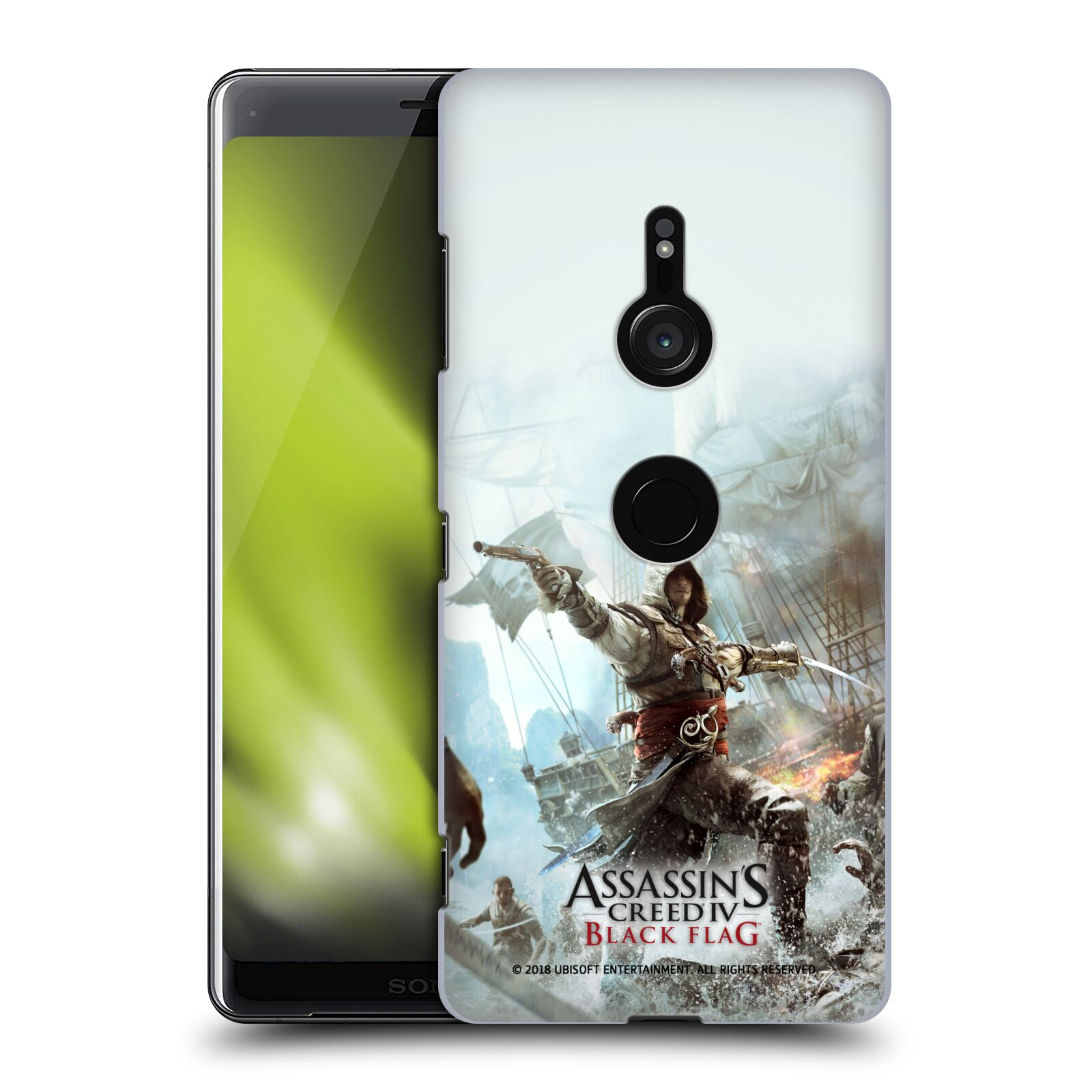 Pouzdro na mobil Sony Xperia XZ3 - HEAD CASE - Assasins Creed Black Flag - Edward v boji