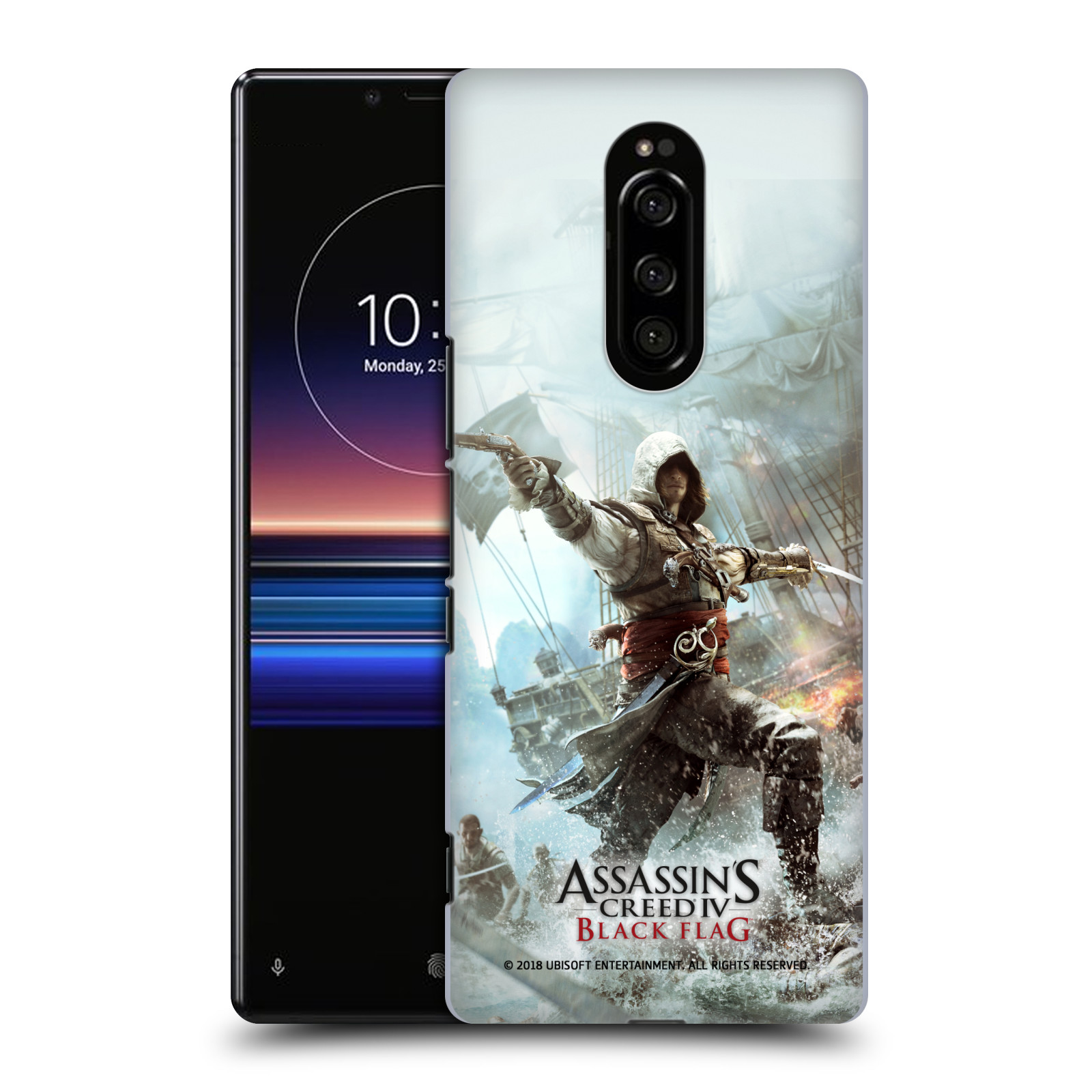 Pouzdro na mobil Sony Xperia 1 - HEAD CASE - Assasins Creed Black Flag - Edward v boji