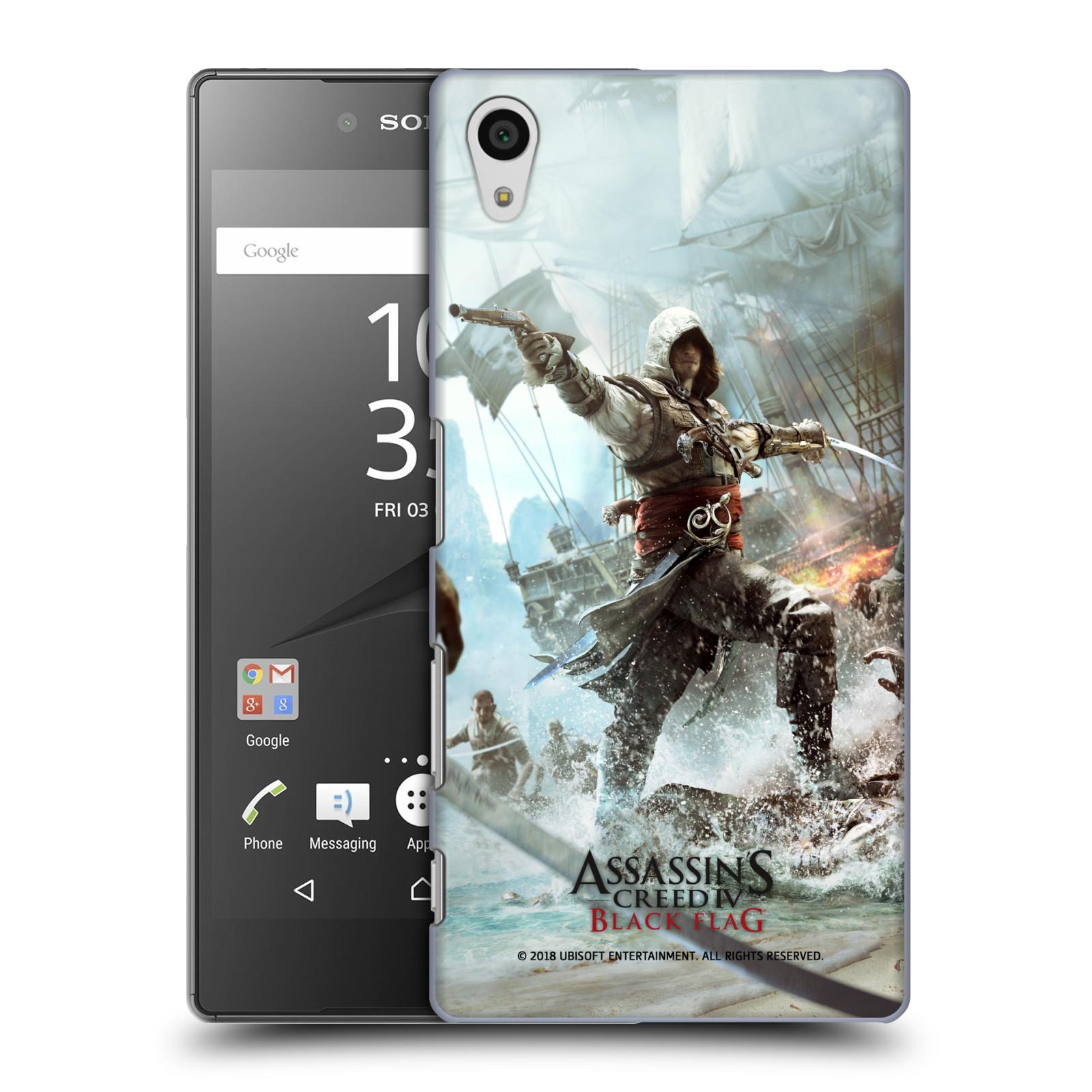 Pouzdro na mobil Sony Xperia Z5 - HEAD CASE - Assasins Creed Black Flag - Edward v boji