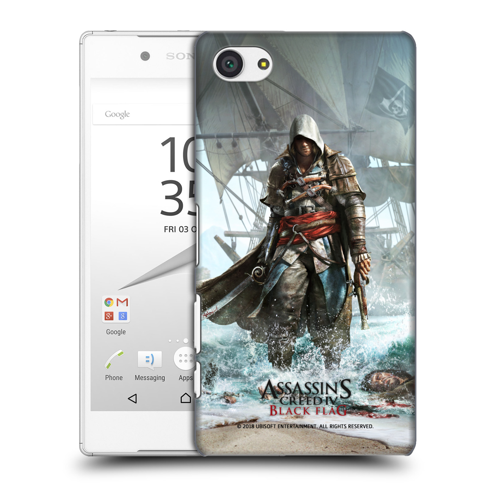 Pouzdro na mobil Sony Xperia Z5 COMPACT - HEAD CASE - Assasins Creed Black Flag - Edward na pobřeží