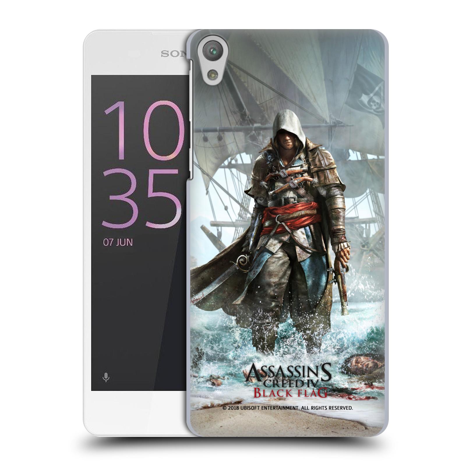 Pouzdro na mobil Sony Xperia E5 - HEAD CASE - Assasins Creed Black Flag - Edward na pobřeží