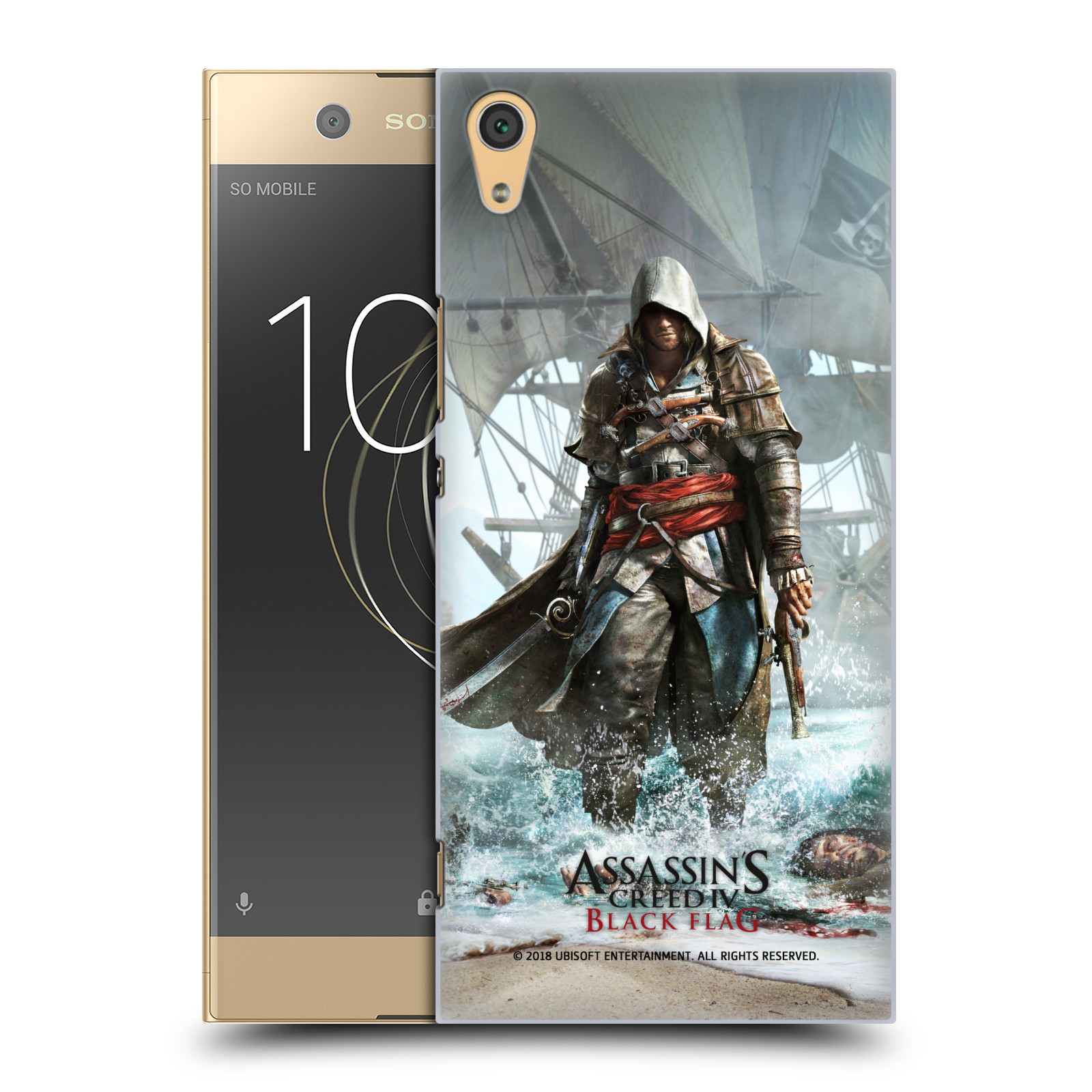 Pouzdro na mobil Sony Xperia XA1 ULTRA - HEAD CASE - Assasins Creed Black Flag - Edward na pobřeží