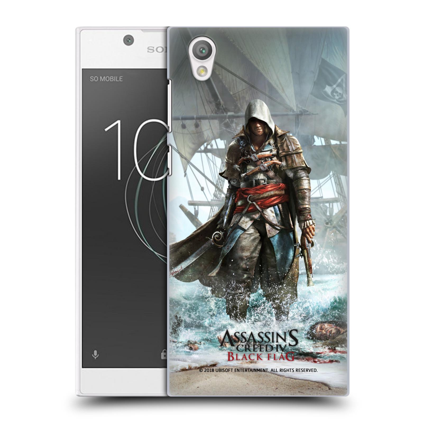 Pouzdro na mobil Sony Xperia L1 - HEAD CASE - Assasins Creed Black Flag - Edward na pobřeží
