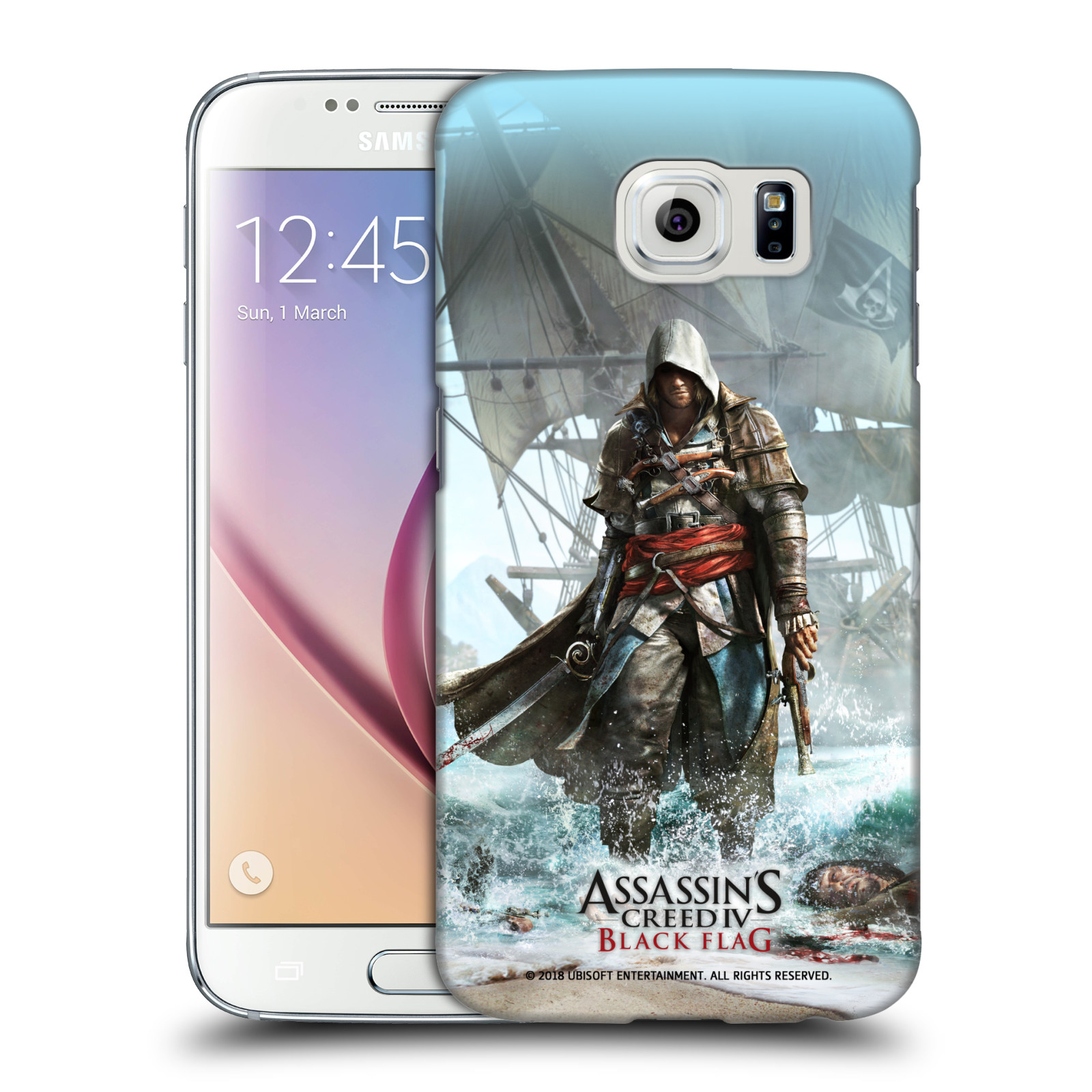 Pouzdro na mobil Samsung Galaxy S6 - HEAD CASE - Assasins Creed Black Flag - Edward na pobřeží