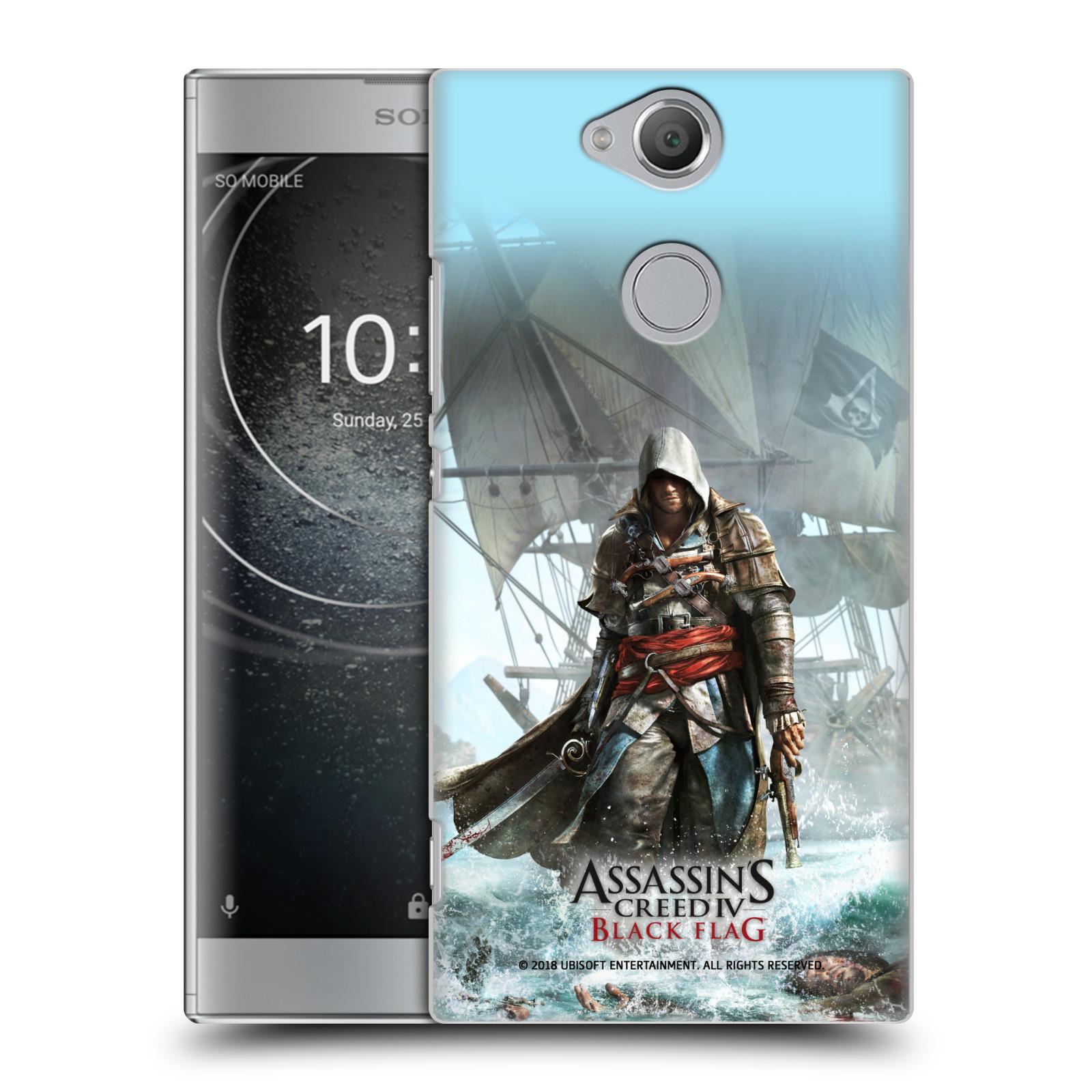 Pouzdro na mobil Sony Xperia XA2 - HEAD CASE - Assasins Creed Black Flag - Edward na pobřeží
