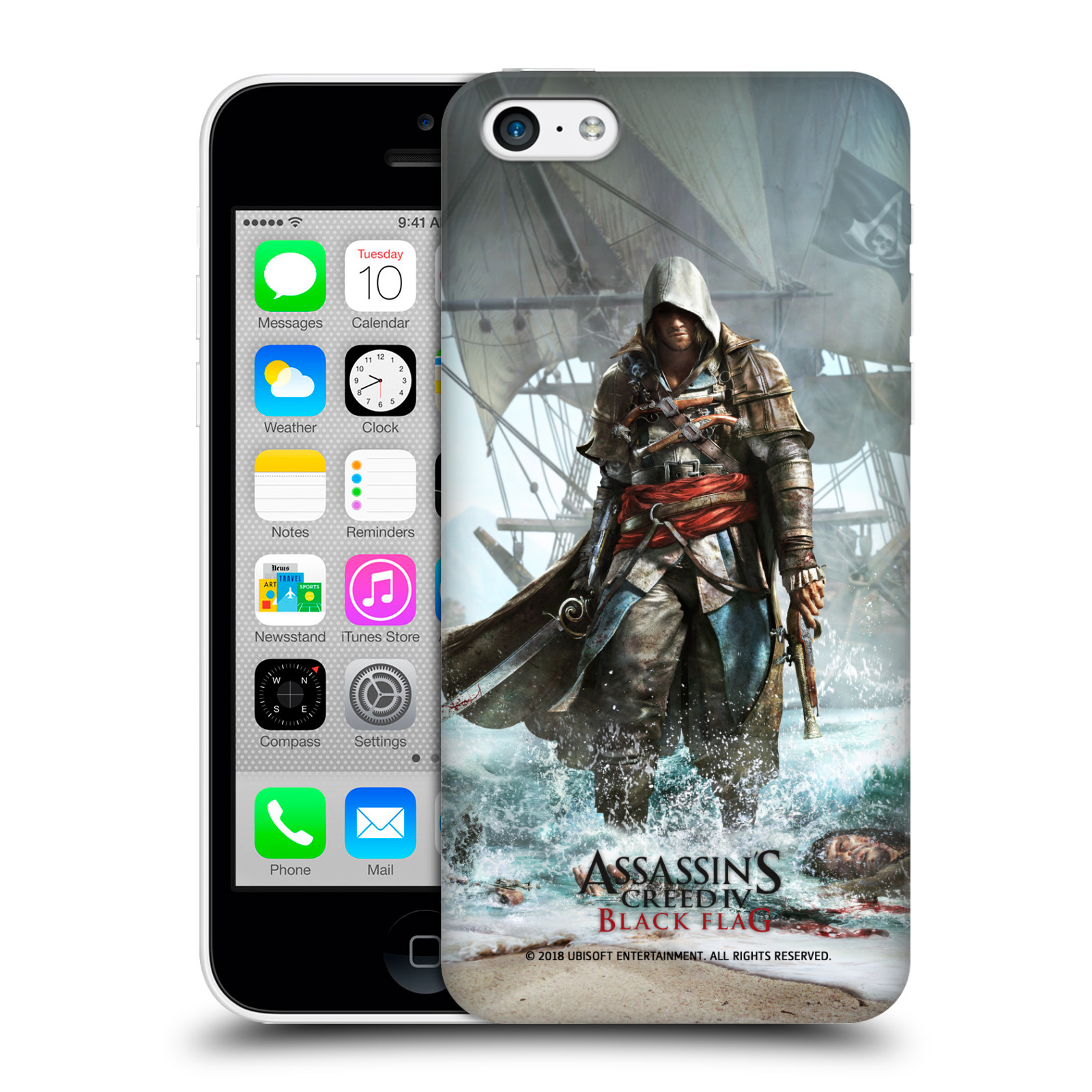 Pouzdro na mobil Apple Iphone 5C - HEAD CASE - Assasins Creed Black Flag - Edward na pobřeží