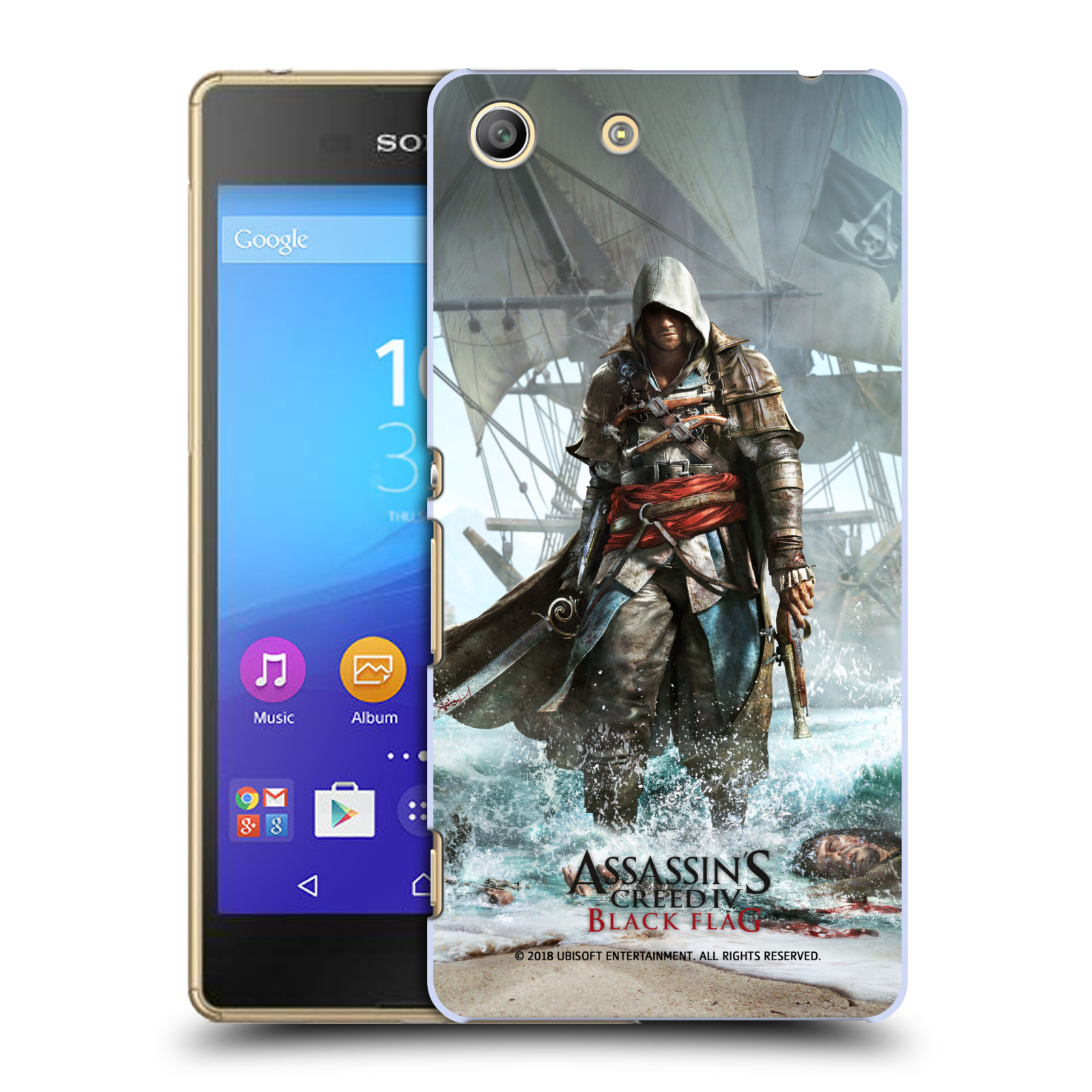 Pouzdro na mobil Sony Xperia M5 - HEAD CASE - Assasins Creed Black Flag - Edward na pobřeží