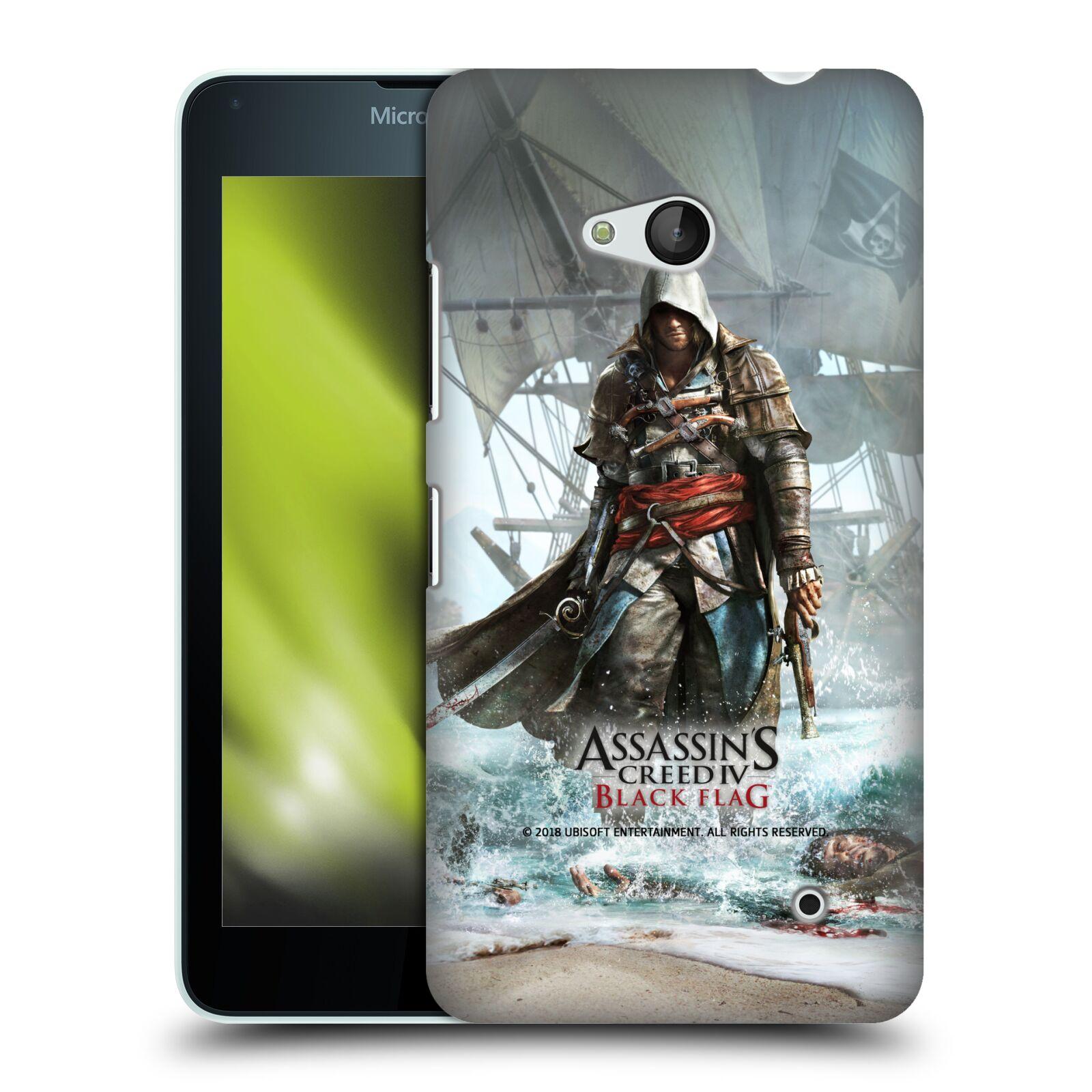 Pouzdro na mobil Microsoft Lumia 640 / 640 DUAL SIM - HEAD CASE - Assasins Creed Black Flag - Edward na pobřeží