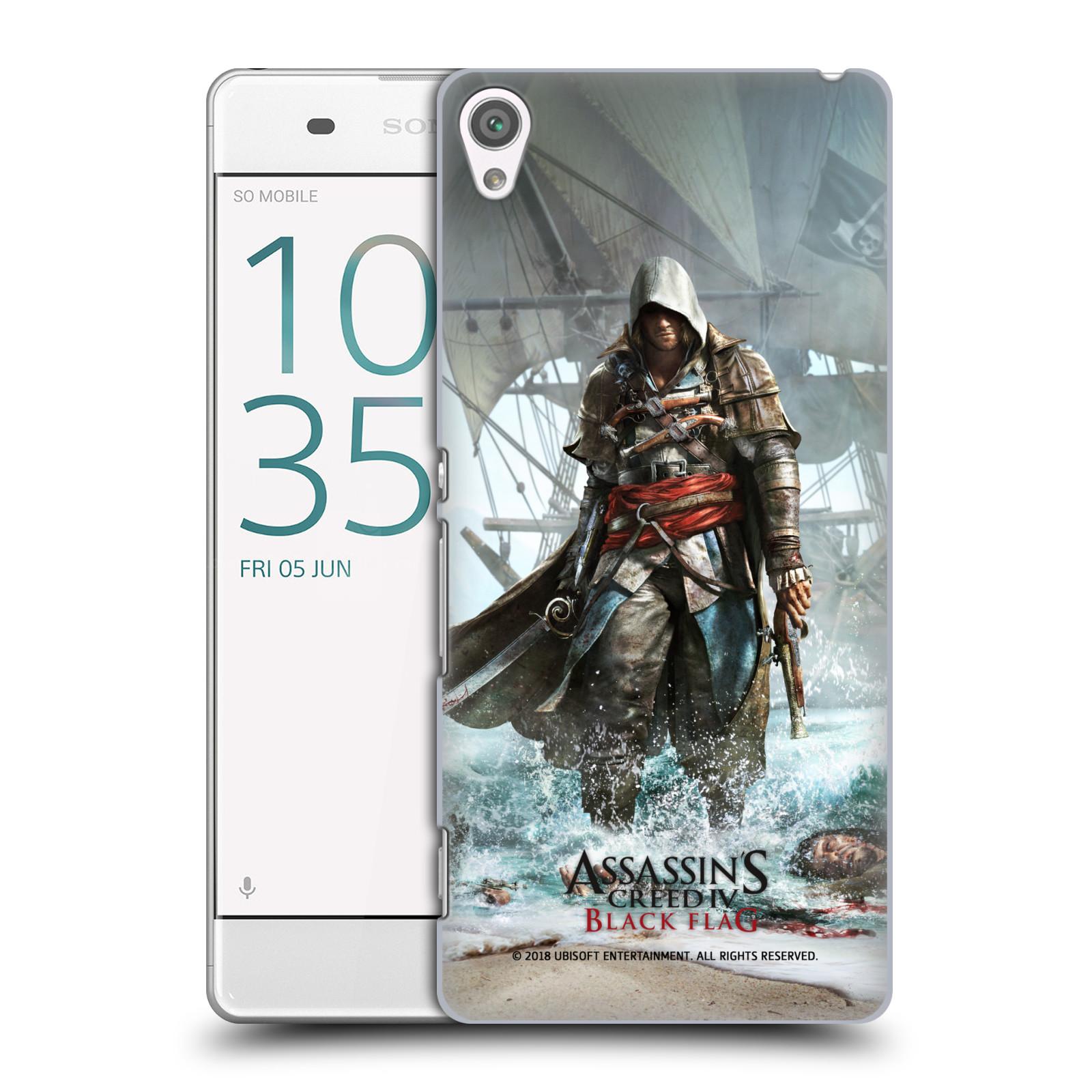 Pouzdro na mobil Sony Xperia XA - HEAD CASE - Assasins Creed Black Flag - Edward na pobřeží