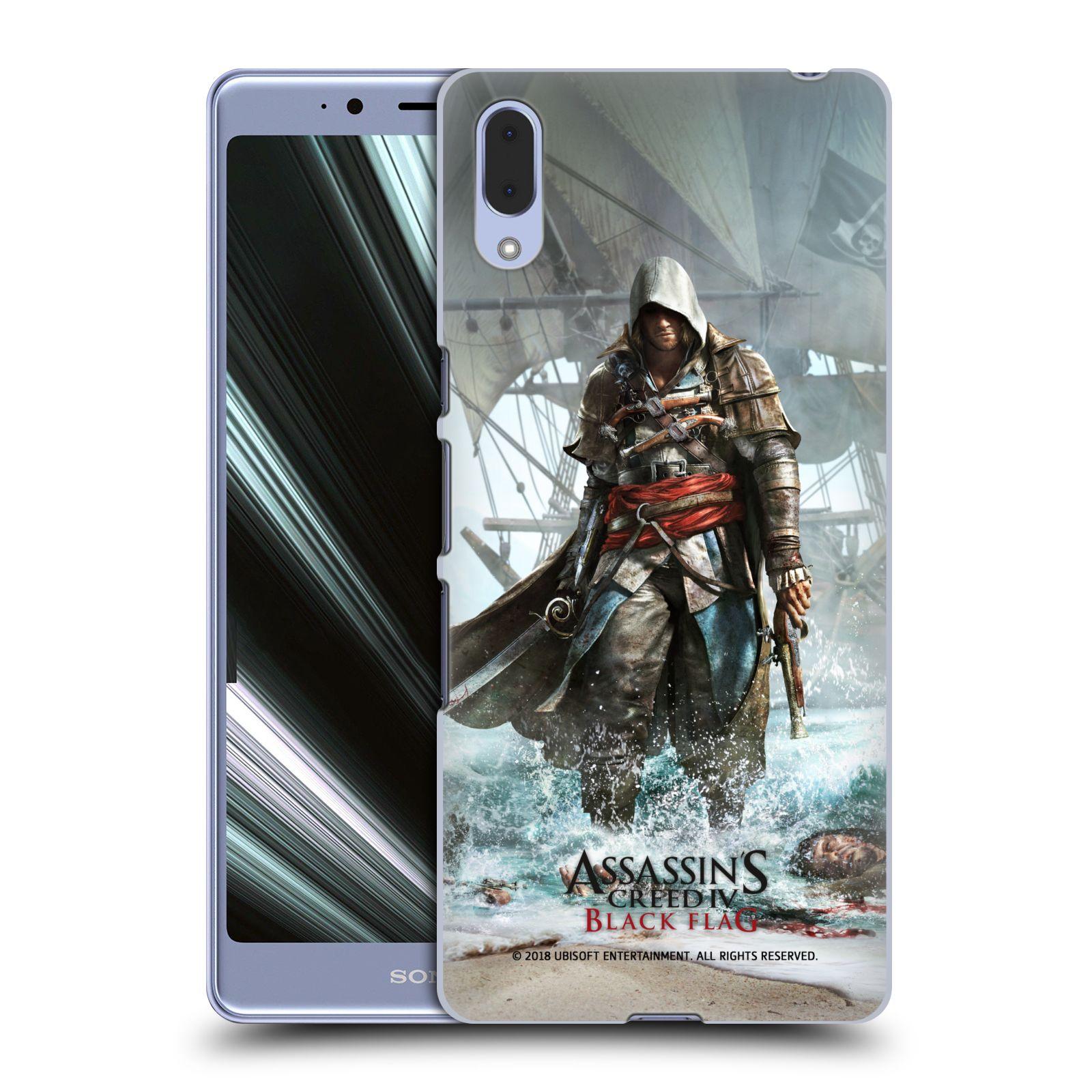 Pouzdro na mobil Sony Xperia L3 - HEAD CASE - Assasins Creed Black Flag - Edward na pobřeží