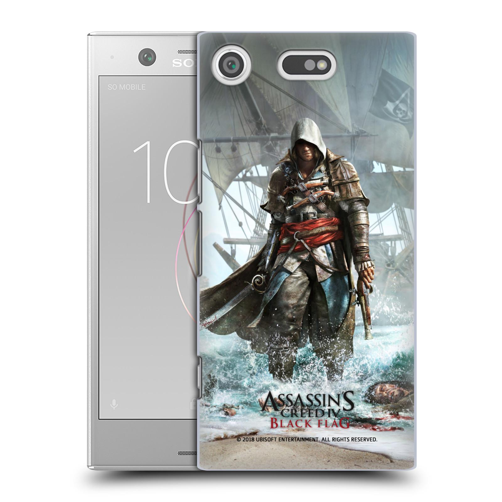 Pouzdro na mobil Sony Xperia XZ1 COMPACT - HEAD CASE - Assasins Creed Black Flag - Edward na pobřeží
