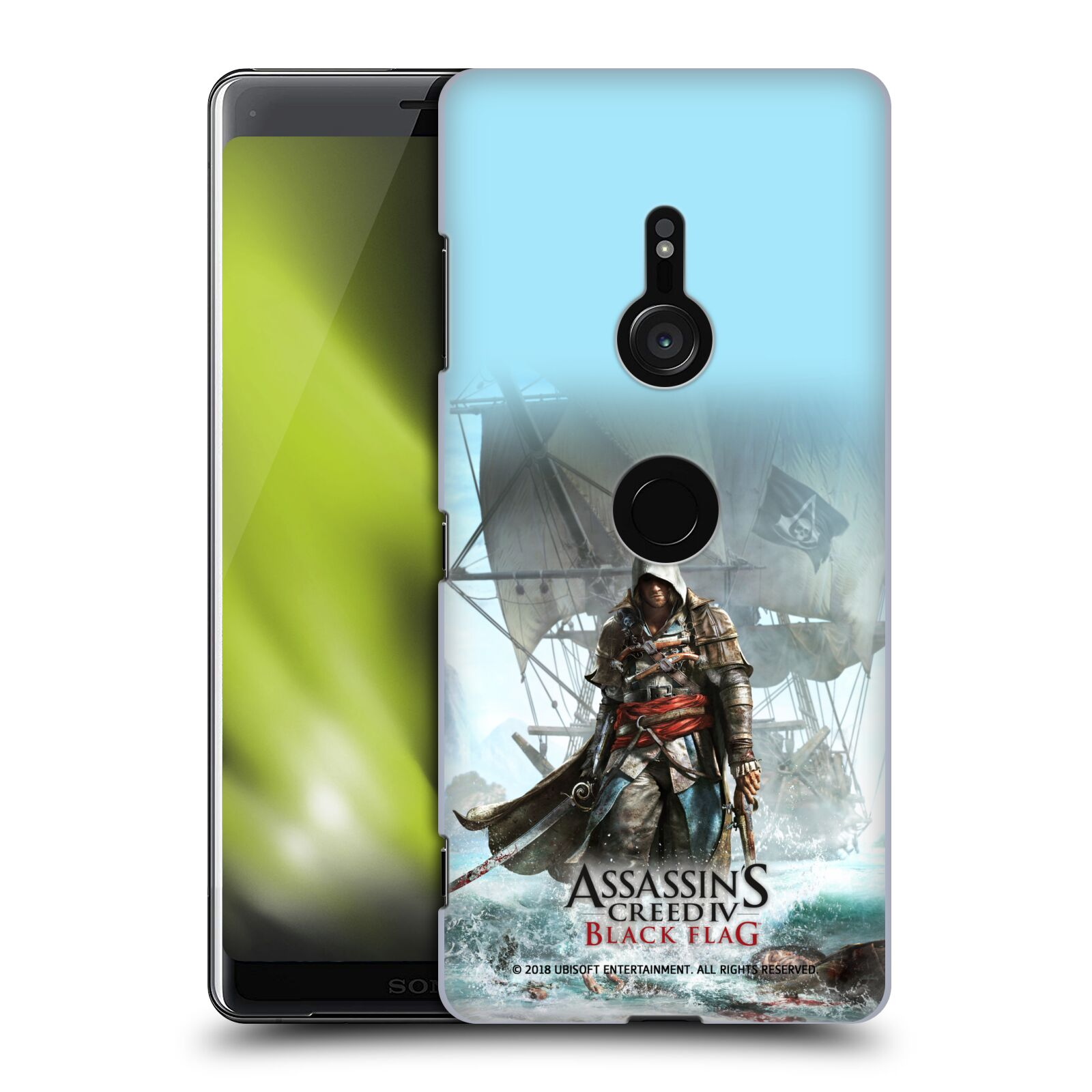 Pouzdro na mobil Sony Xperia XZ3 - HEAD CASE - Assasins Creed Black Flag - Edward na pobřeží