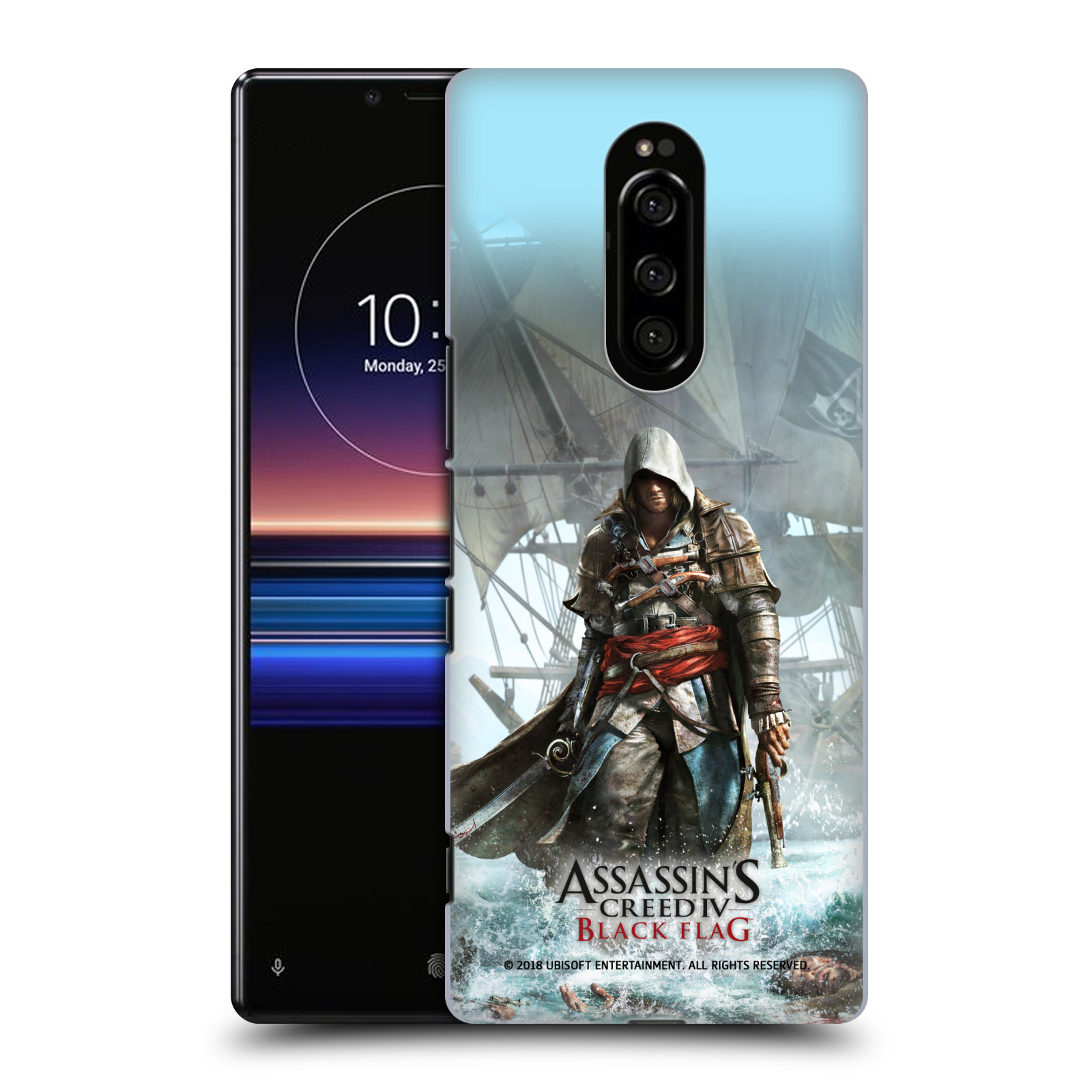 Pouzdro na mobil Sony Xperia 1 - HEAD CASE - Assasins Creed Black Flag - Edward na pobřeží