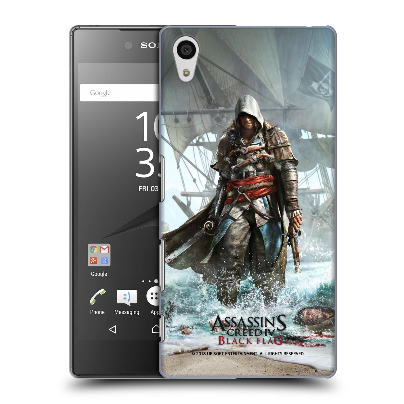 Pouzdro na mobil Sony Xperia Z5 - HEAD CASE - Assasins Creed Black Flag - Edward na pobřeží