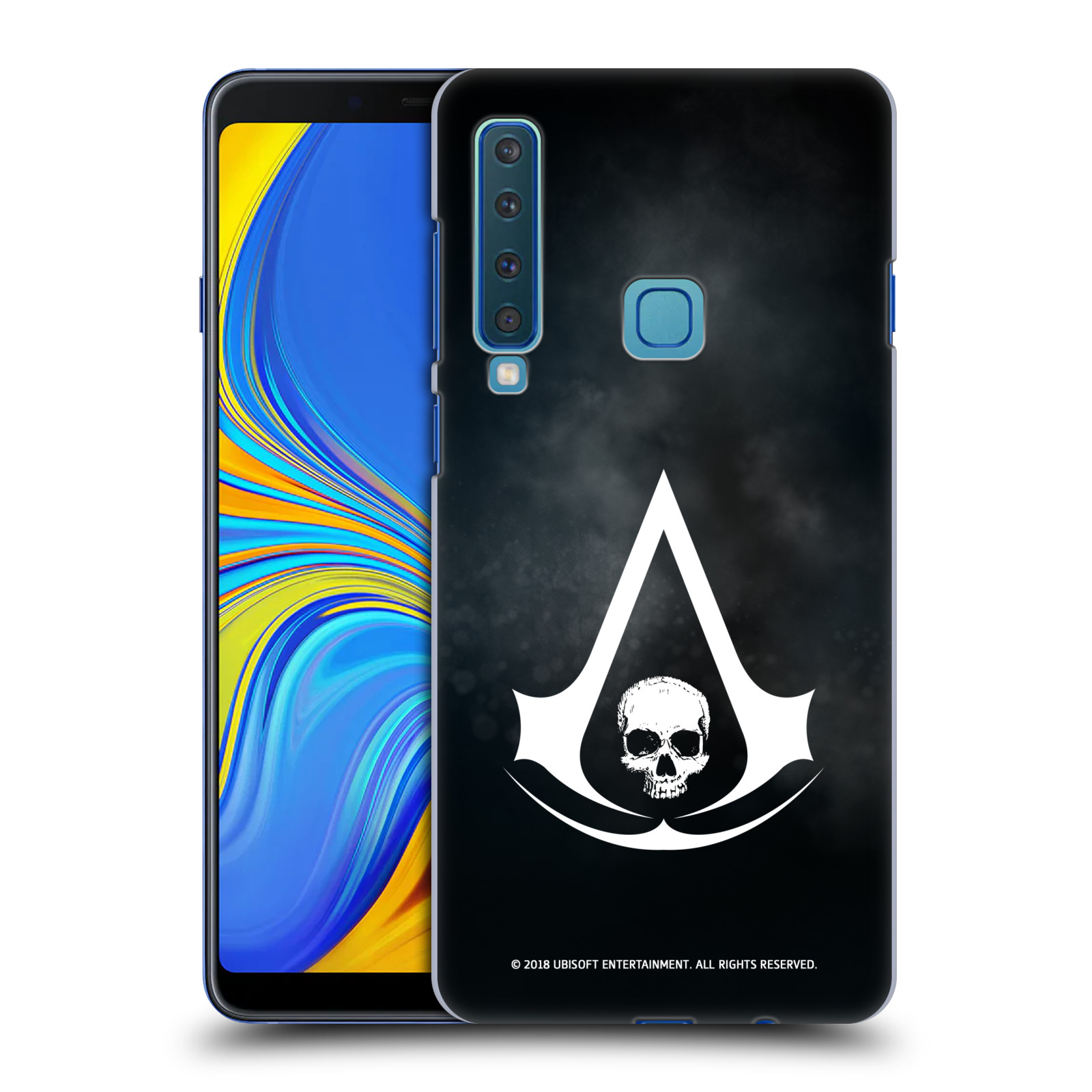 Pouzdro na mobil Samsung Galaxy A9 2018 - HEAD CASE - Assasins Creed Black Flag - Velký znak