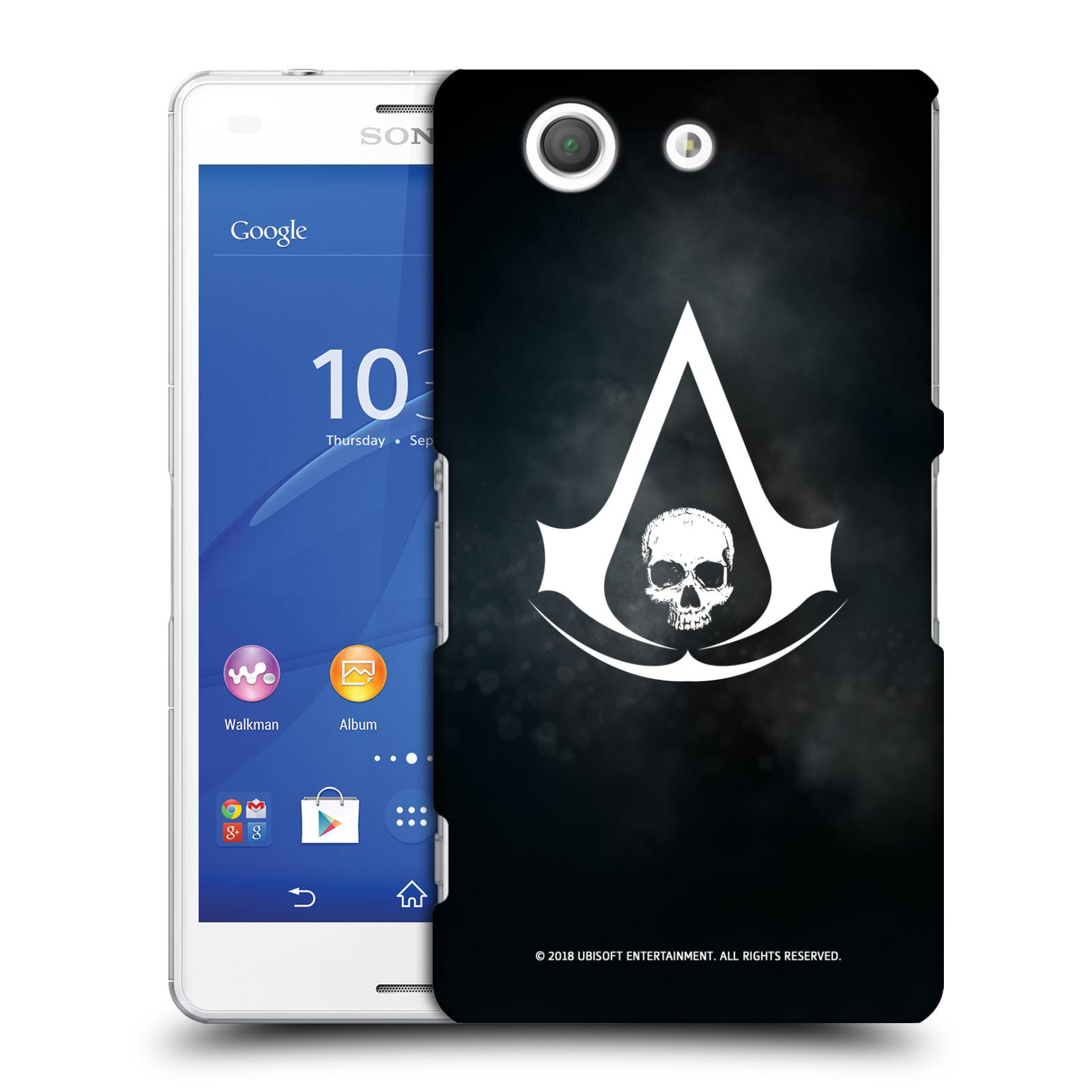 Pouzdro na mobil Sony Xperia Z3 COMPACT - HEAD CASE - Assasins Creed Black Flag - Velký znak