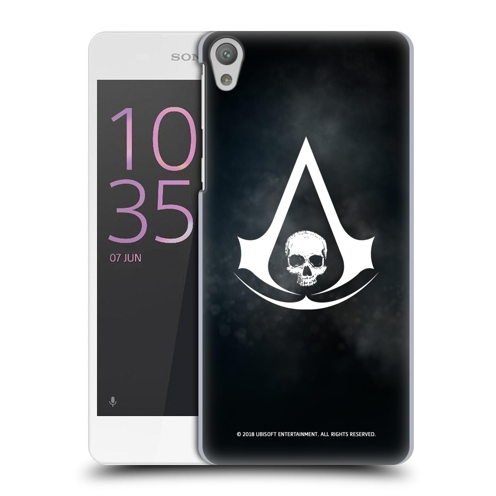 Pouzdro na mobil Sony Xperia E5 - HEAD CASE - Assasins Creed Black Flag - Velký znak