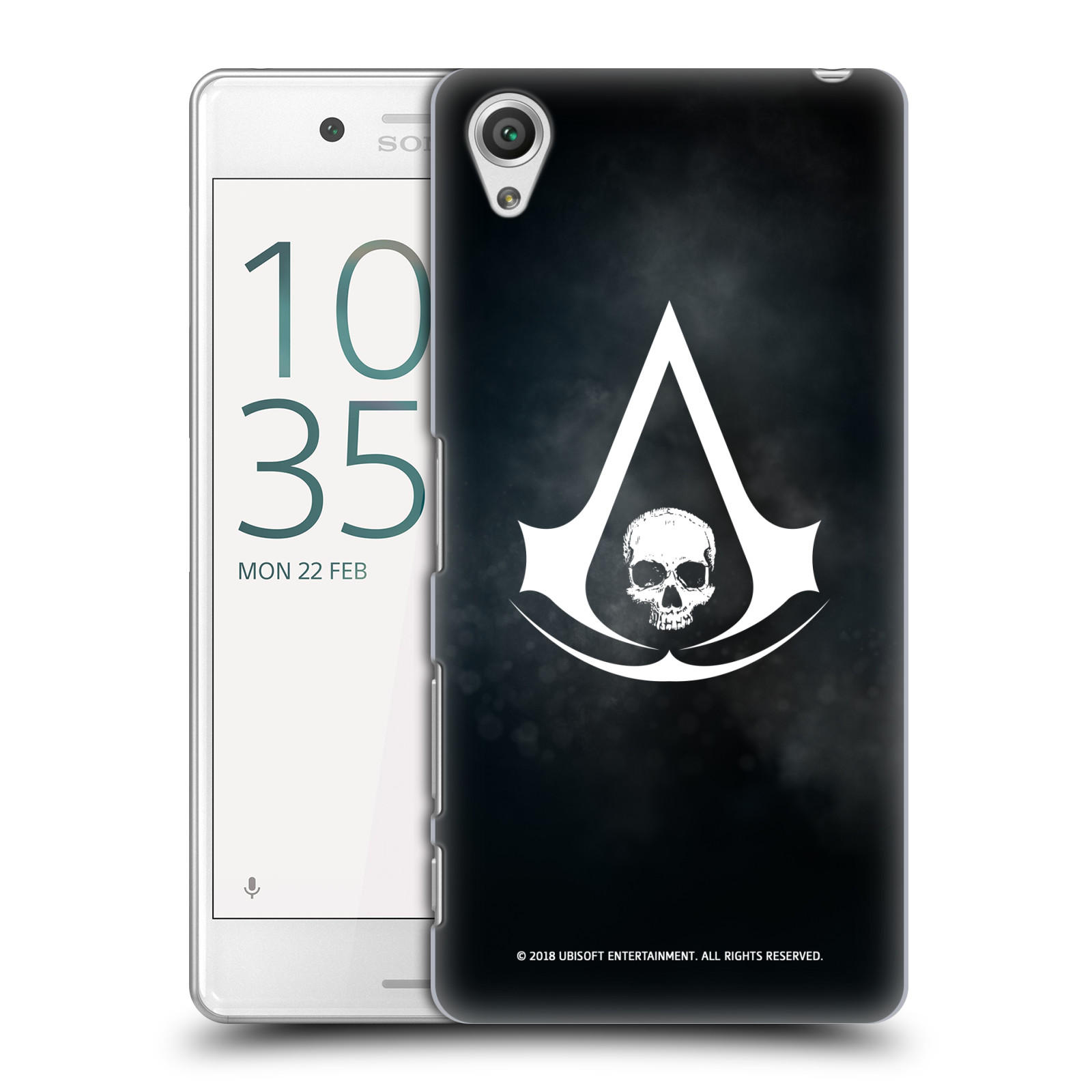Pouzdro na mobil Sony Xperia X PERFORMANCE - HEAD CASE - Assasins Creed Black Flag - Velký znak