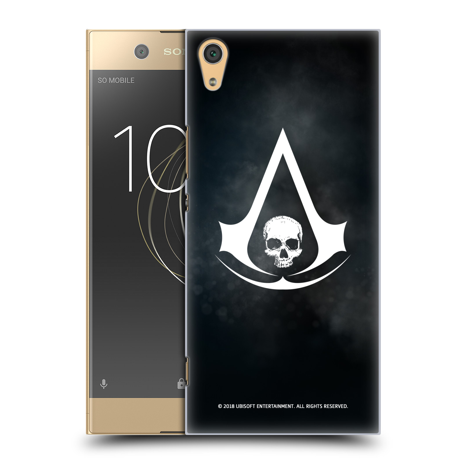 Pouzdro na mobil Sony Xperia XA1 ULTRA - HEAD CASE - Assasins Creed Black Flag - Velký znak