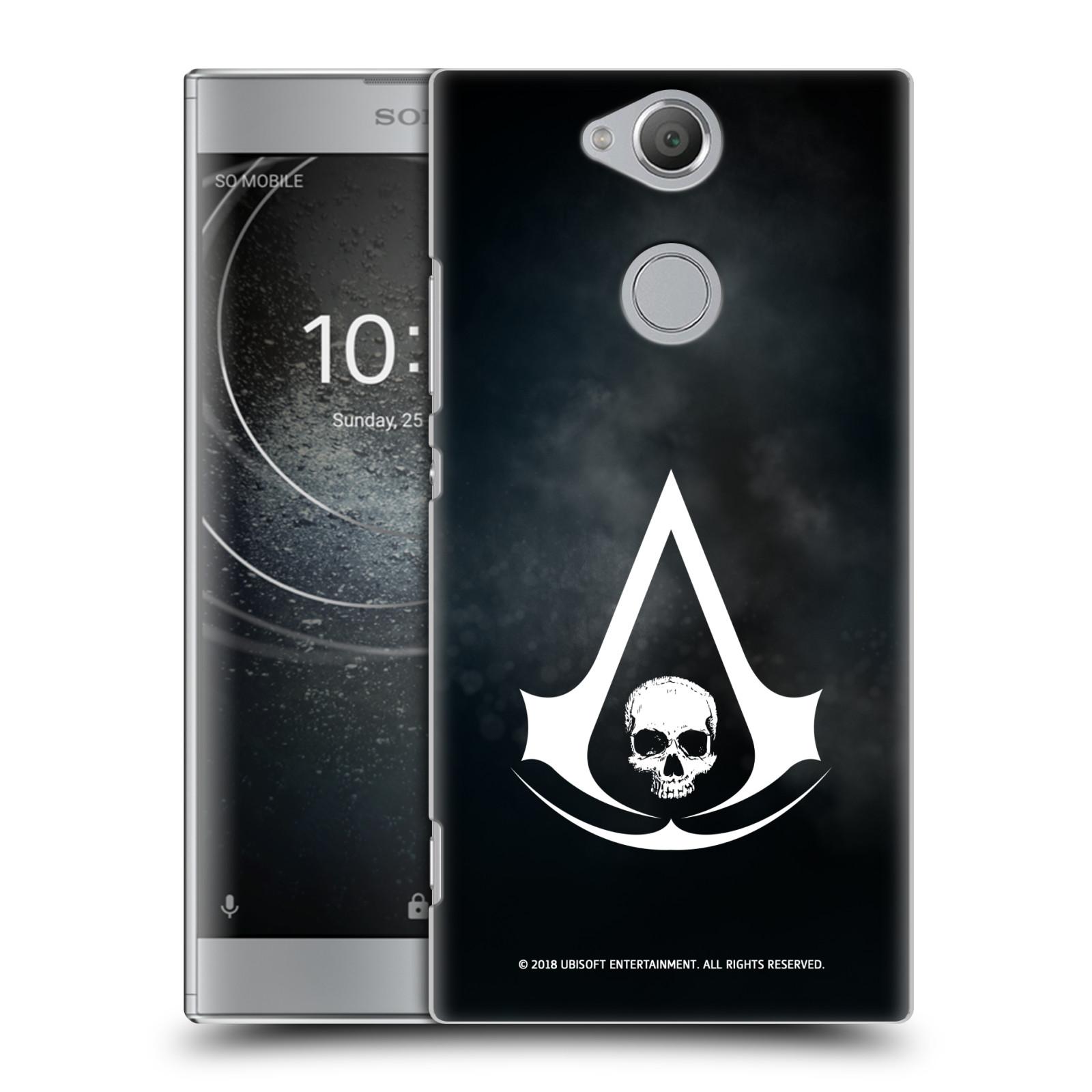 Pouzdro na mobil Sony Xperia XA2 - HEAD CASE - Assasins Creed Black Flag - Velký znak
