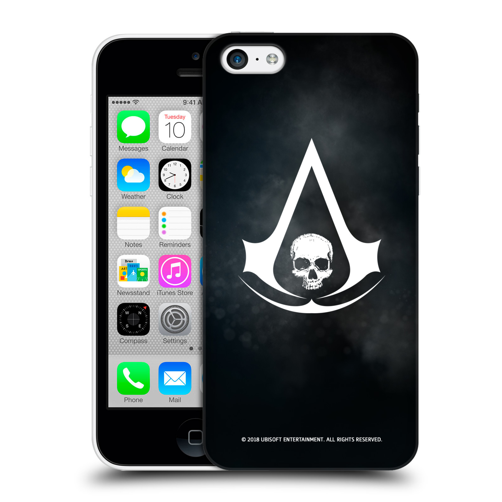 Pouzdro na mobil Apple Iphone 5C - HEAD CASE - Assasins Creed Black Flag - Velký znak