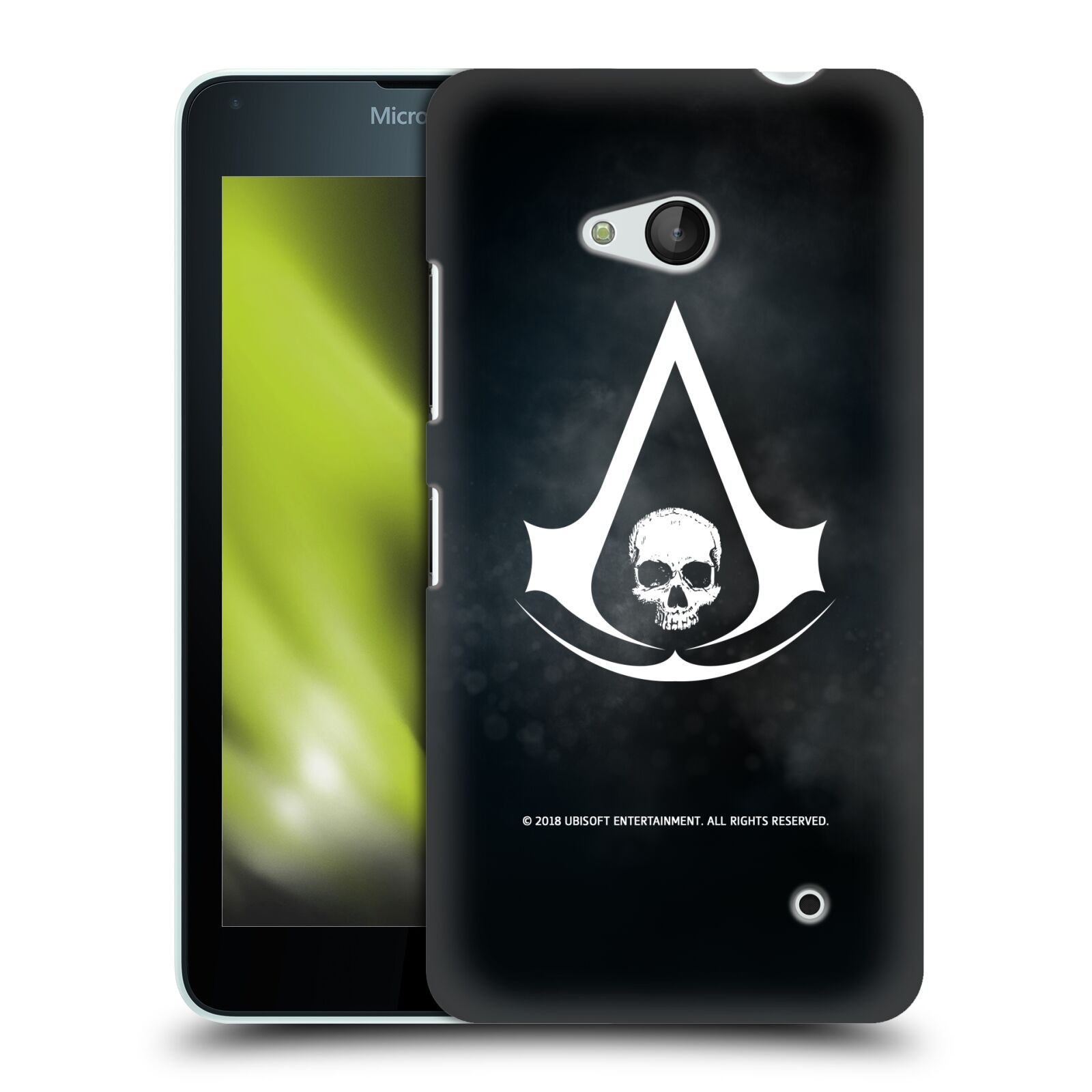 Pouzdro na mobil Microsoft Lumia 640 / 640 DUAL SIM - HEAD CASE - Assasins Creed Black Flag - Velký znak