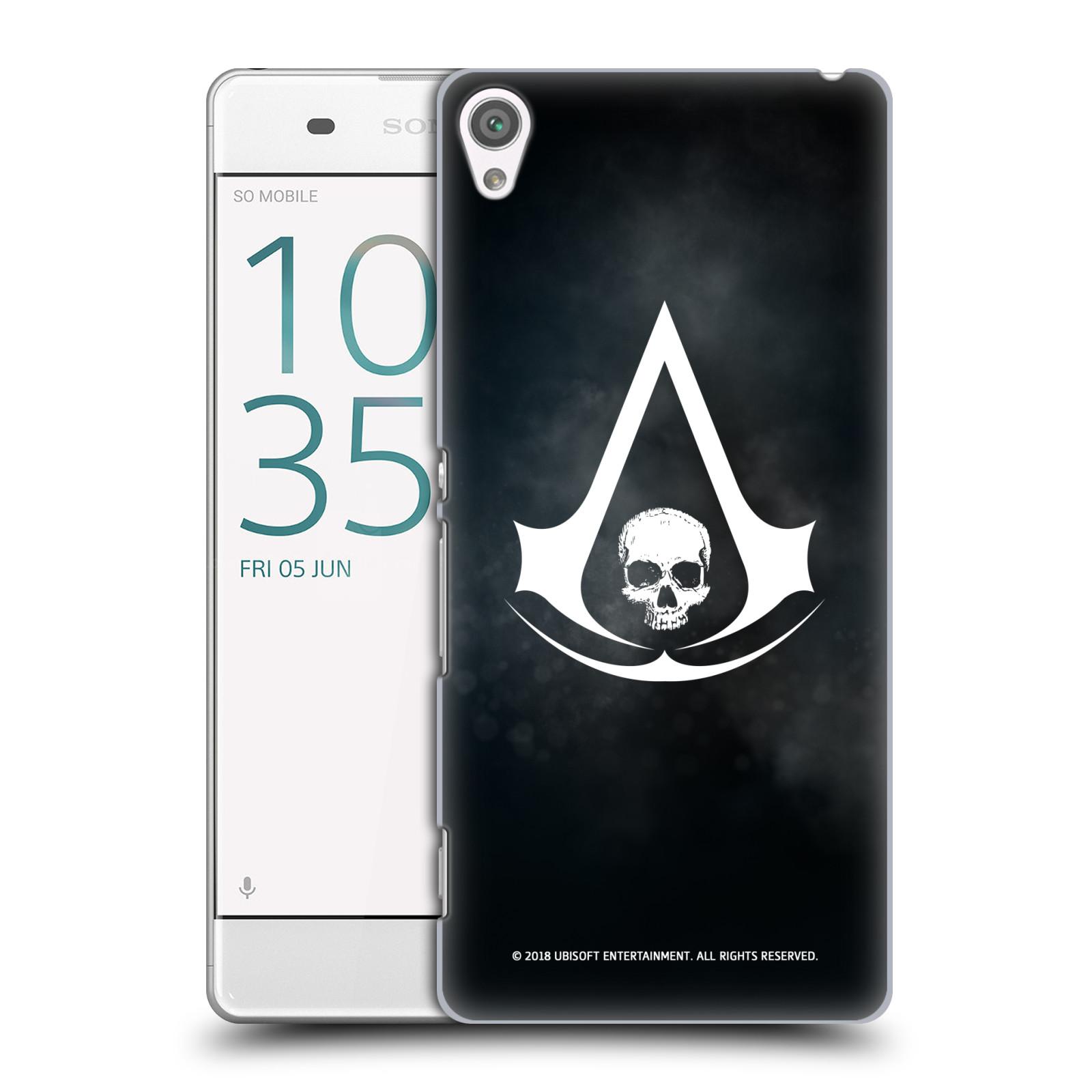 Pouzdro na mobil Sony Xperia XA - HEAD CASE - Assasins Creed Black Flag - Velký znak