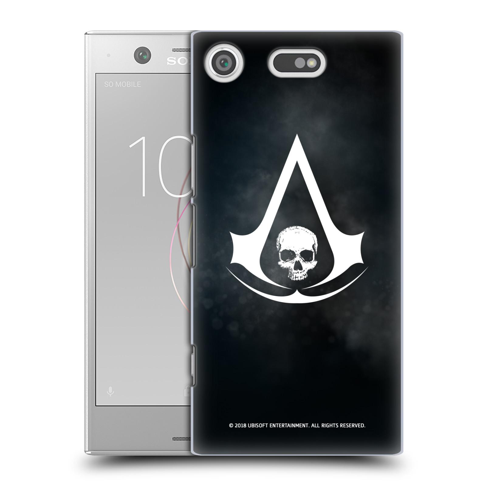 Pouzdro na mobil Sony Xperia XZ1 COMPACT - HEAD CASE - Assasins Creed Black Flag - Velký znak