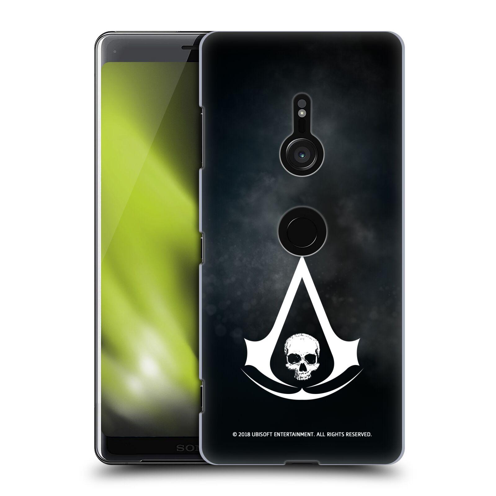 Pouzdro na mobil Sony Xperia XZ3 - HEAD CASE - Assasins Creed Black Flag - Velký znak