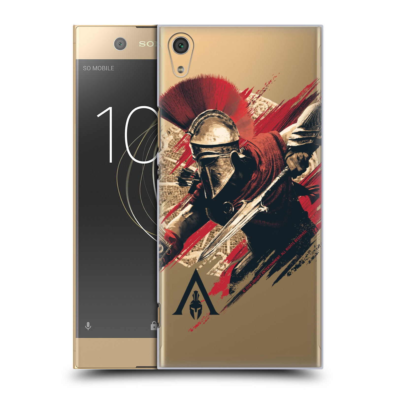 Pouzdro na mobil Sony Xperia XA1 ULTRA - HEAD CASE - Assassins Creed Odyssey Alexios s oštěpem