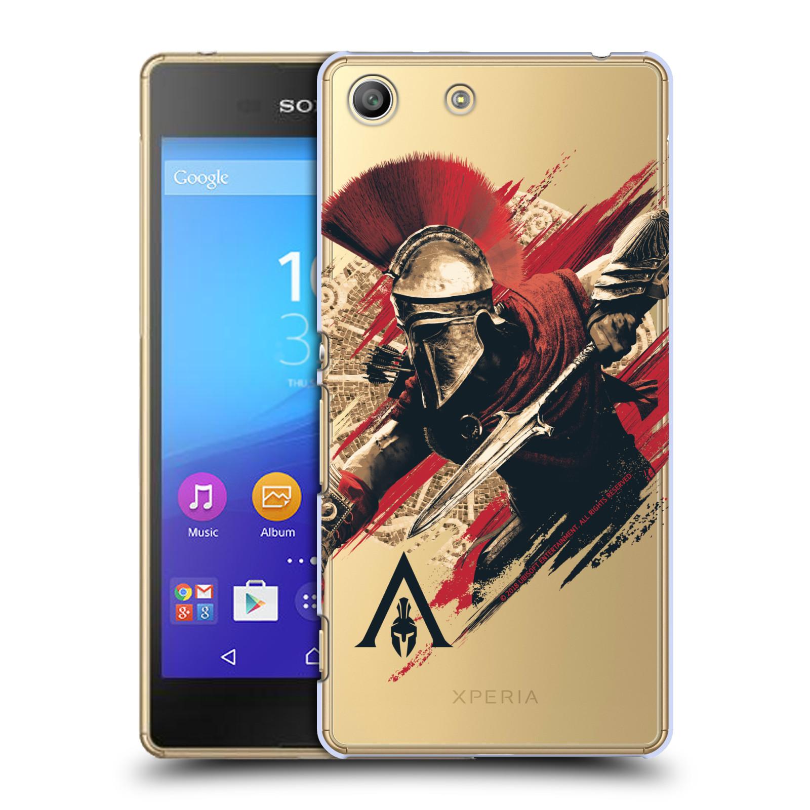 Pouzdro na mobil Sony Xperia M5 - HEAD CASE - Assassins Creed Odyssey Alexios s oštěpem