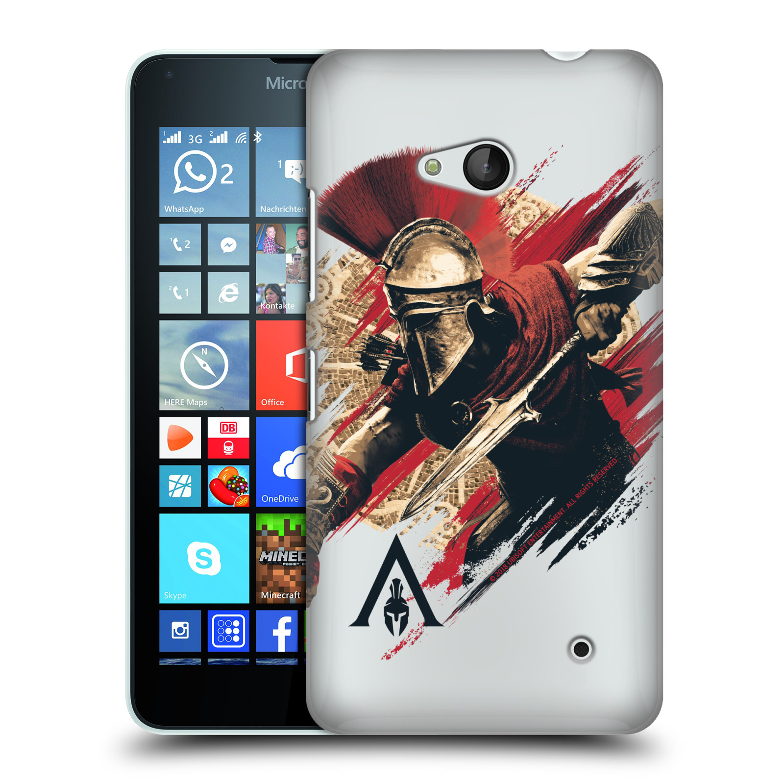 Pouzdro na mobil Microsoft Lumia 640 / 640 DUAL SIM - HEAD CASE - Assassins Creed Odyssey Alexios s oštěpem