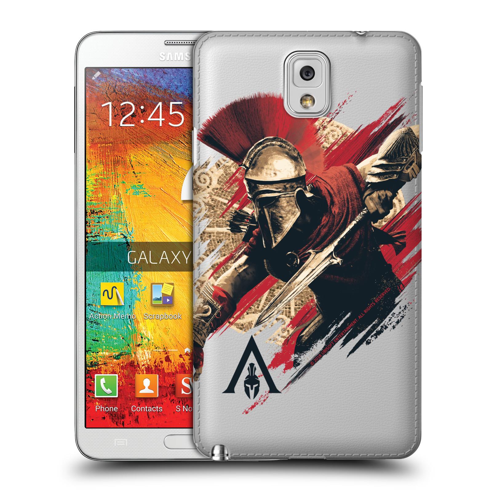 Pouzdro na mobil Samsung Galaxy Note 3 - HEAD CASE - Assassins Creed Odyssey Alexios s oštěpem