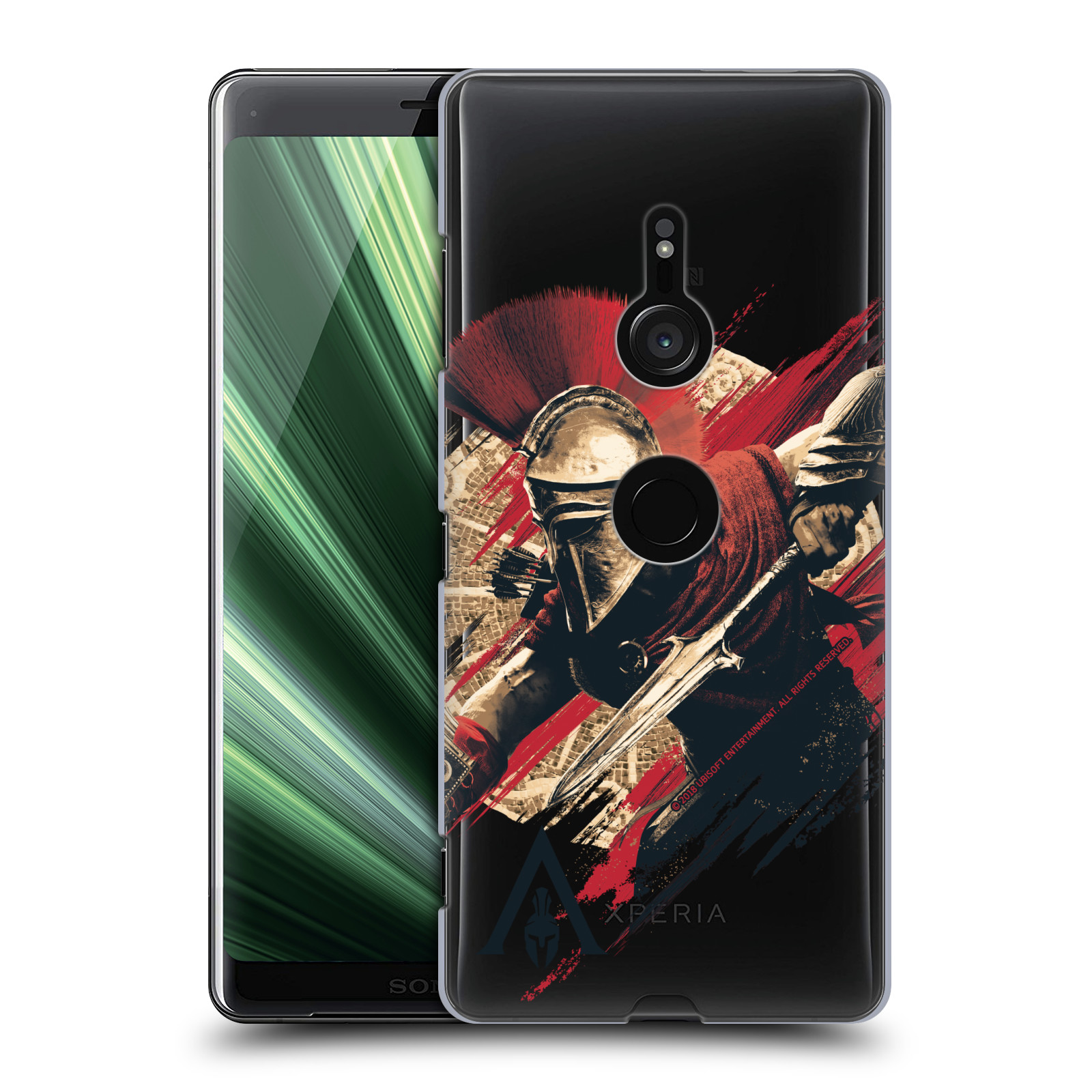 Pouzdro na mobil Sony Xperia XZ3 - HEAD CASE - Assassins Creed Odyssey Alexios s oštěpem