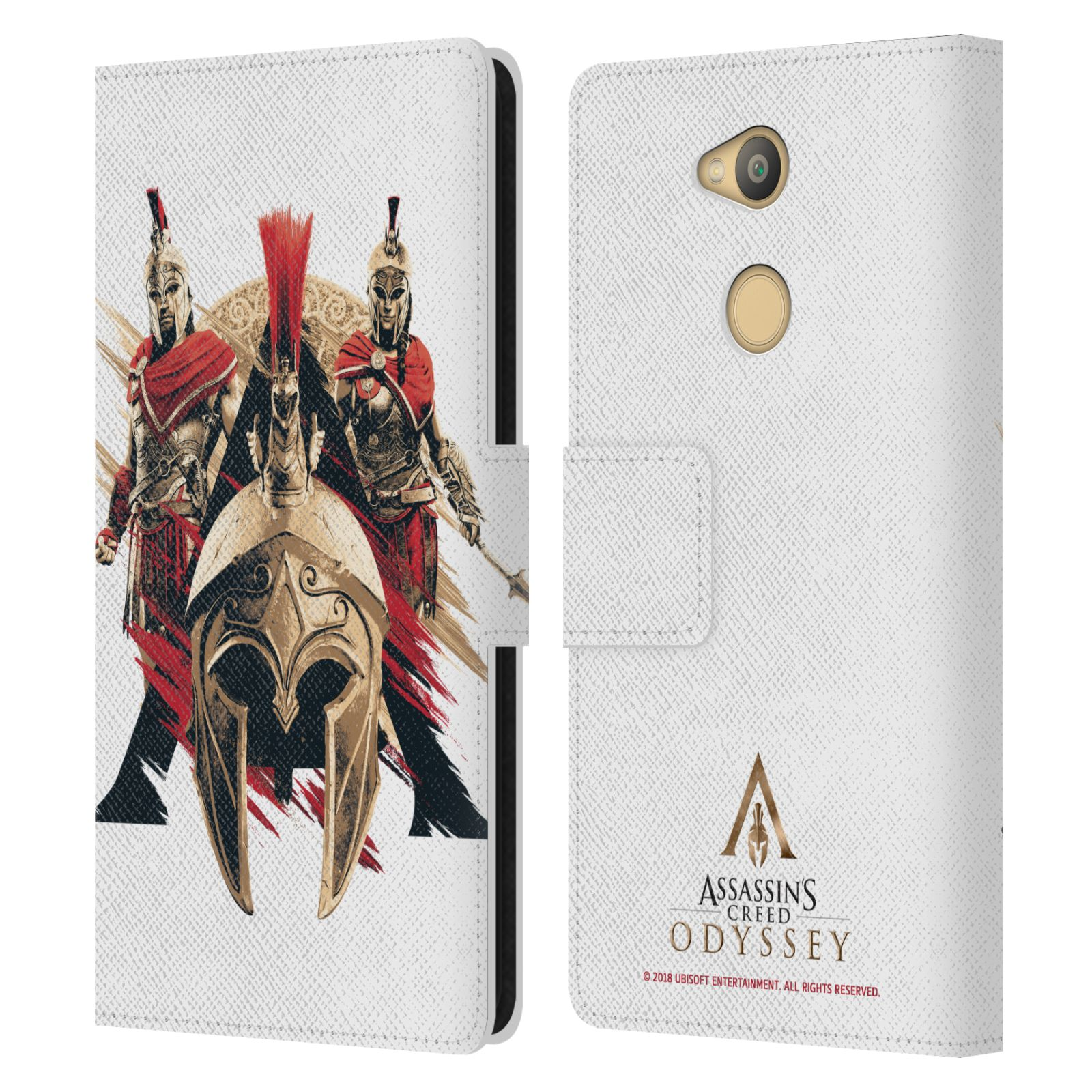 Pouzdro na mobil Sony Xperia L2 - Head Case - Assassins Creed Odyssey helmice