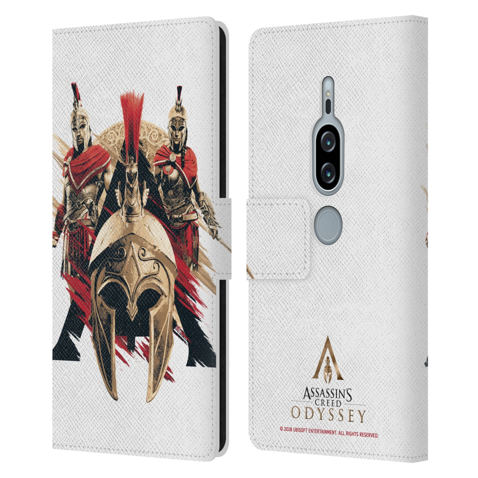 Pouzdro na mobil Sony Xperia XZ2 Premium - Head Case - Assassins Creed Odyssey helmice