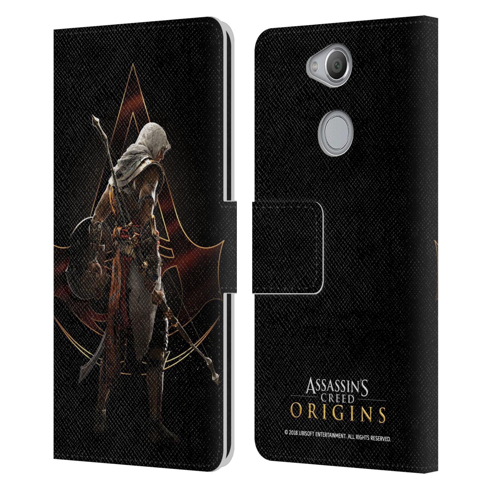Pouzdro na mobil Sony Xperia XA2 - Head Case - Assasins Creed Bayek zadní pohled černé pozadí