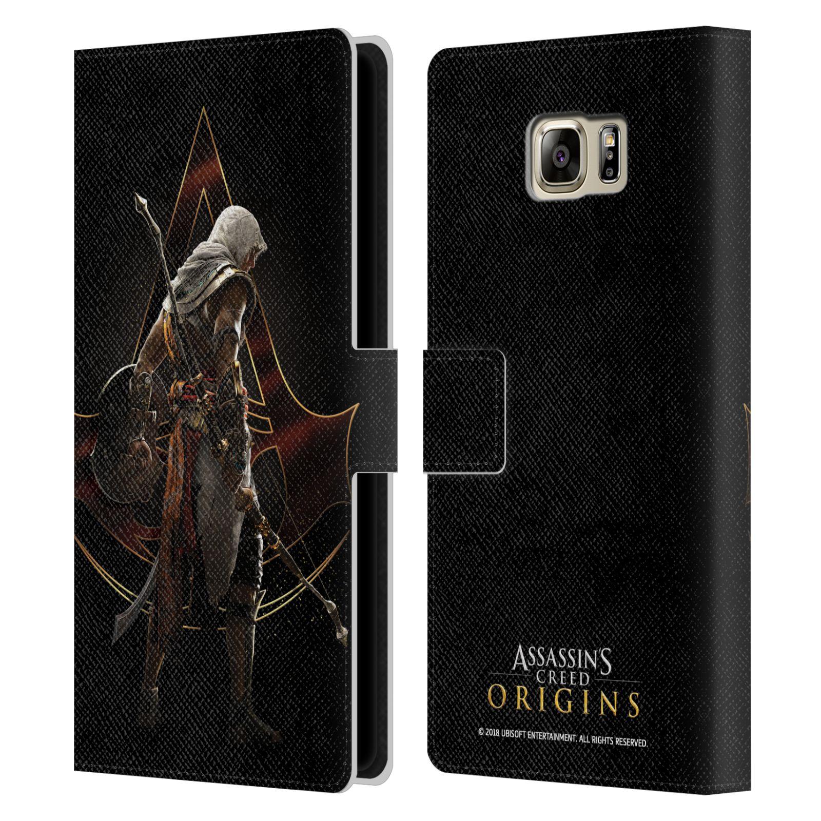 Pouzdro na mobil Samsung Galaxy NOTE 5 - Head Case - Assasins Creed Bayek zadní pohled černé pozadí