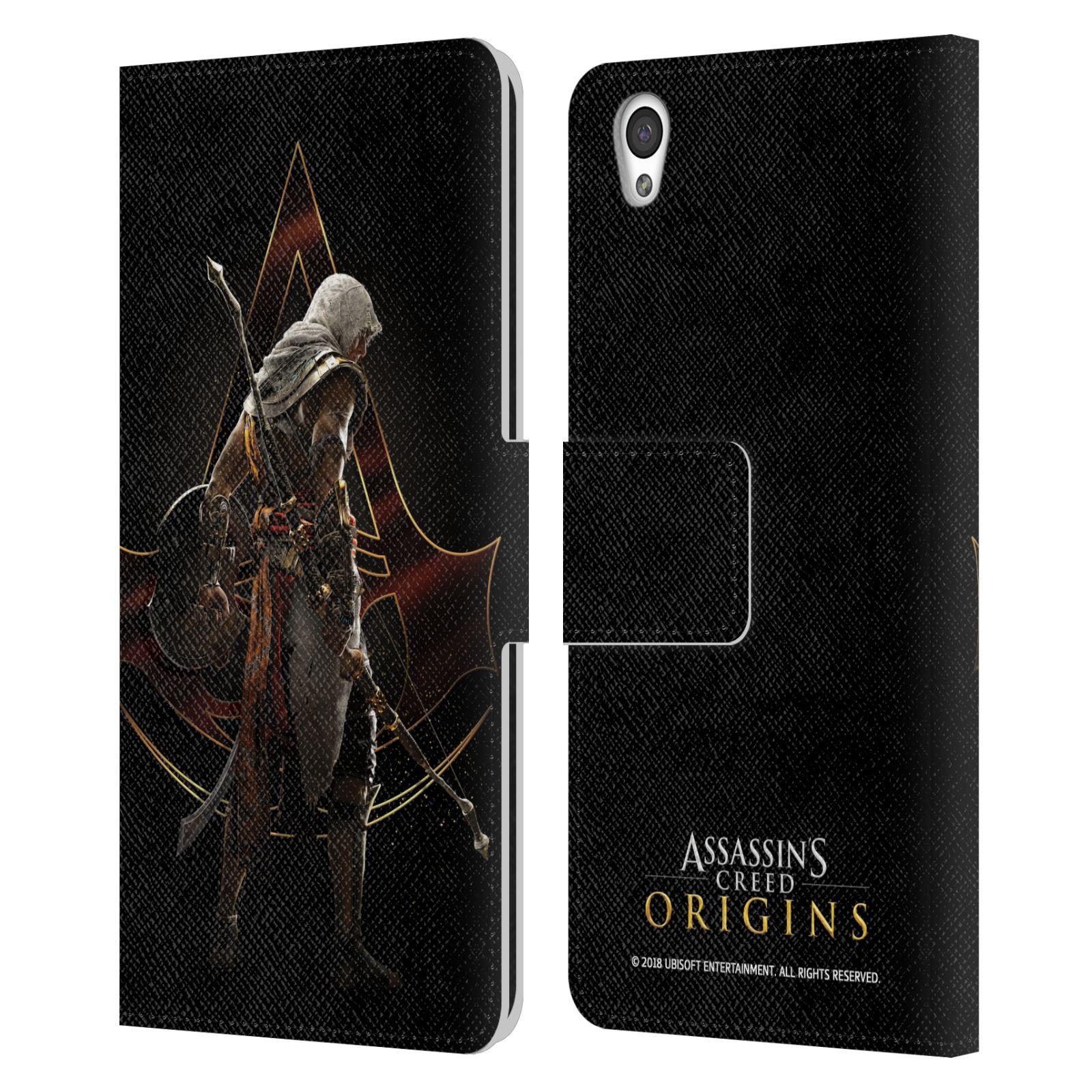 Pouzdro na mobil OnePlus X - Head Case - Assasins Creed Bayek zadní pohled černé pozadí