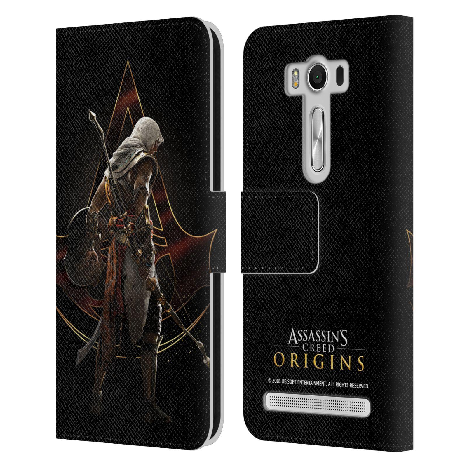 Pouzdro na mobil Asus Zenfone 2 Laser ZE500KL - Head Case - Assasins Creed Bayek zadní pohled černé pozadí