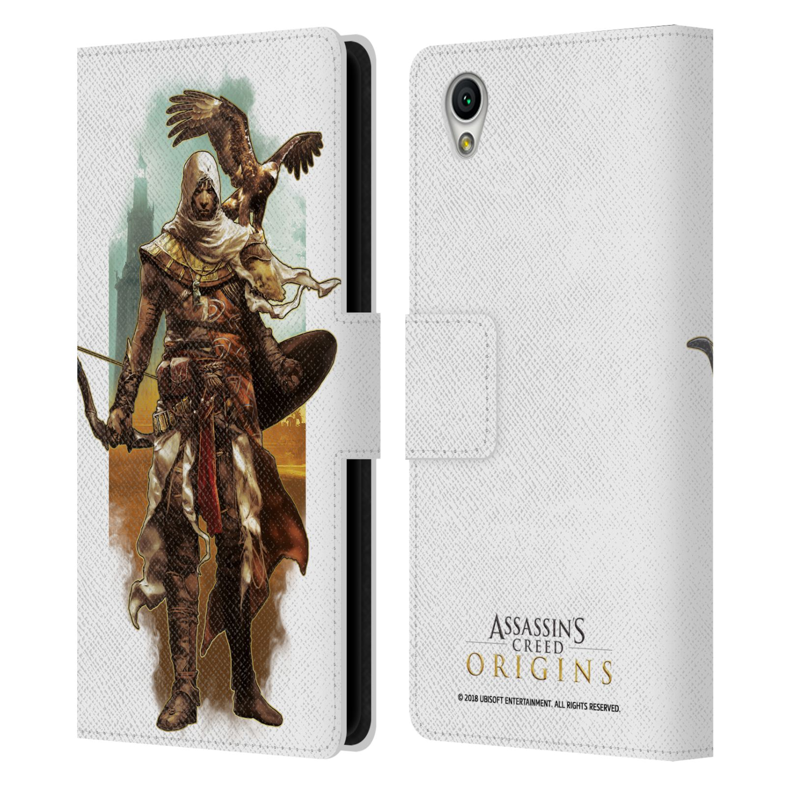 Pouzdro na mobil Sony Xperia L1 - Head Case - Assasins Creed Bayek s orlem