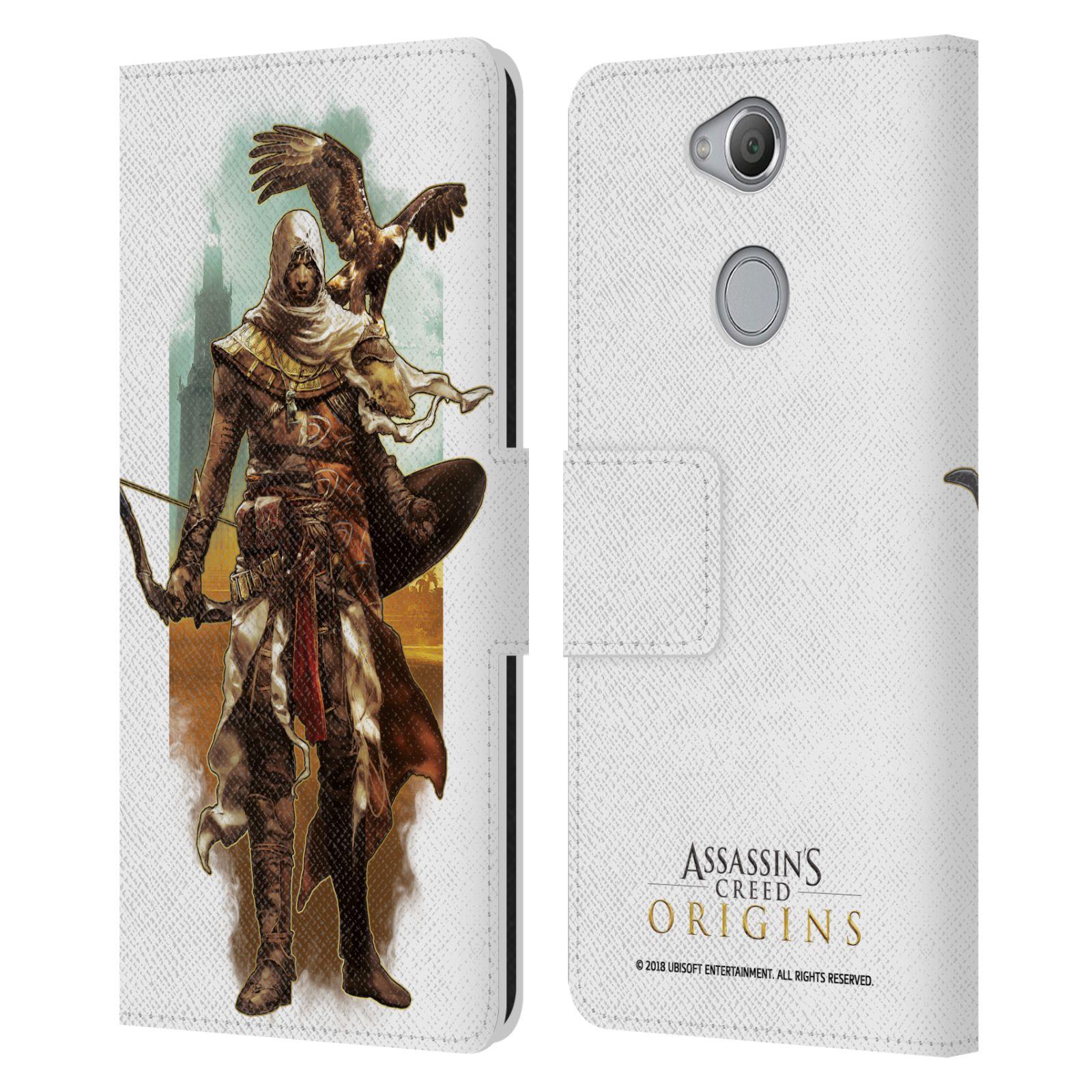 Pouzdro na mobil Sony Xperia XA2 - Head Case - Assasins Creed Bayek s orlem
