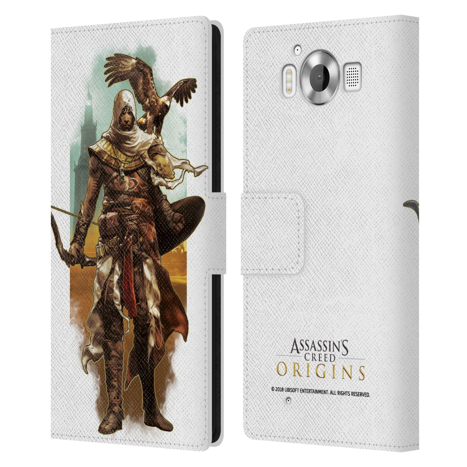 Pouzdro na mobil Nokia Lumia 950 - Head Case - Assasins Creed Bayek s orlem
