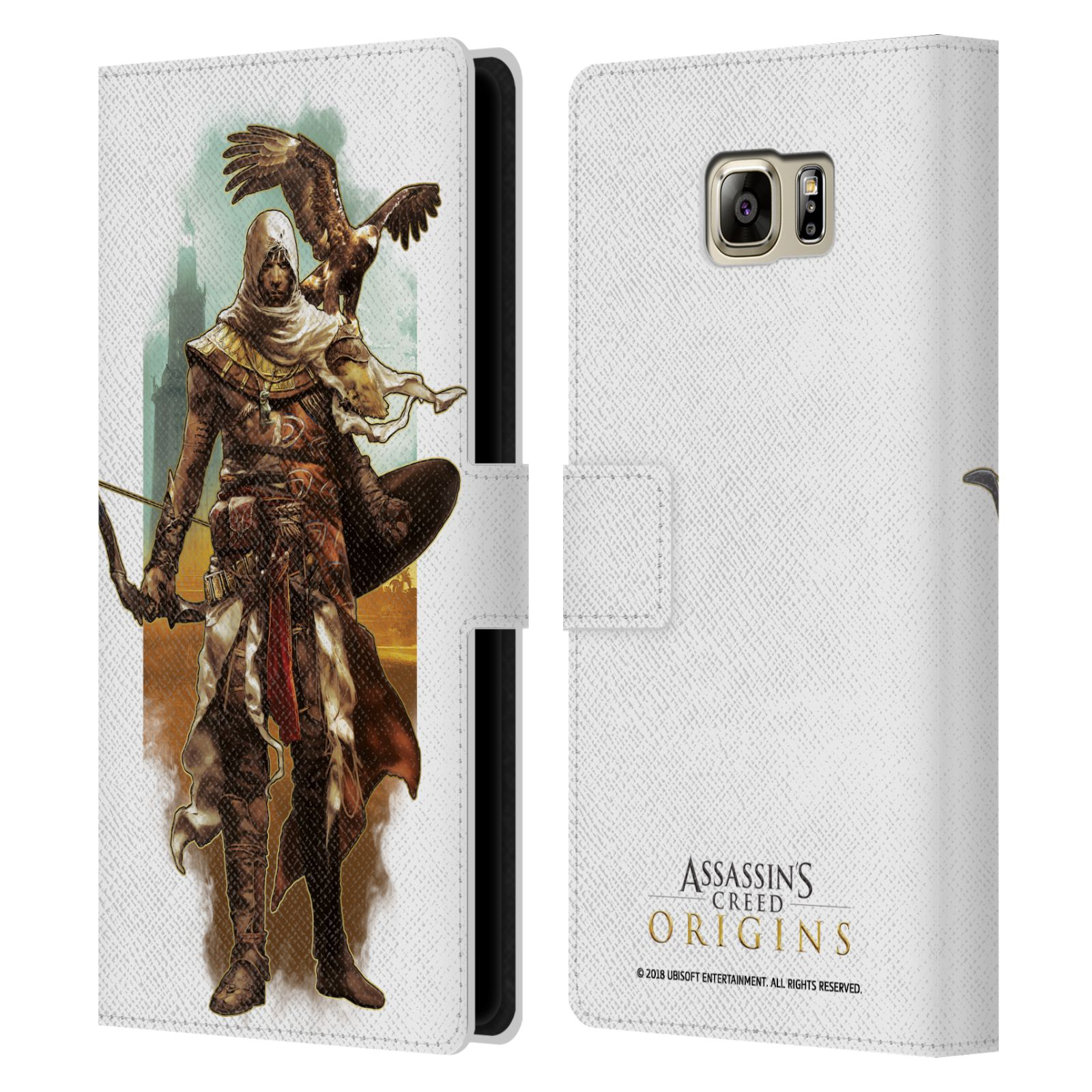 Pouzdro na mobil Samsung Galaxy NOTE 5 - Head Case - Assasins Creed Bayek s orlem